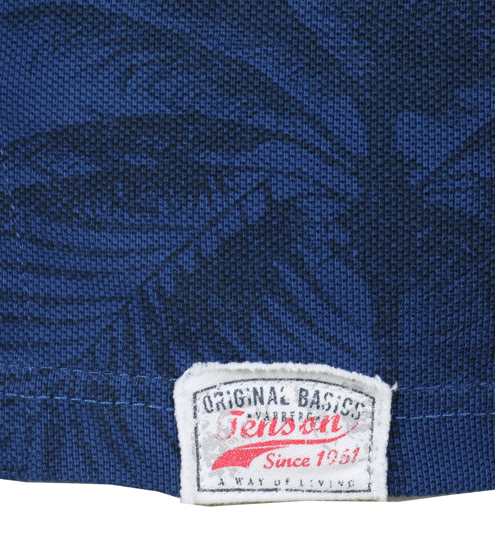 Tenson Polo Palmboom Blauw foto 2