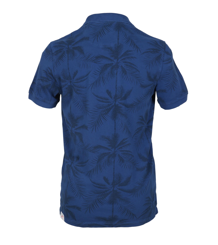 Tenson Polo Palmboom Blauw foto 3