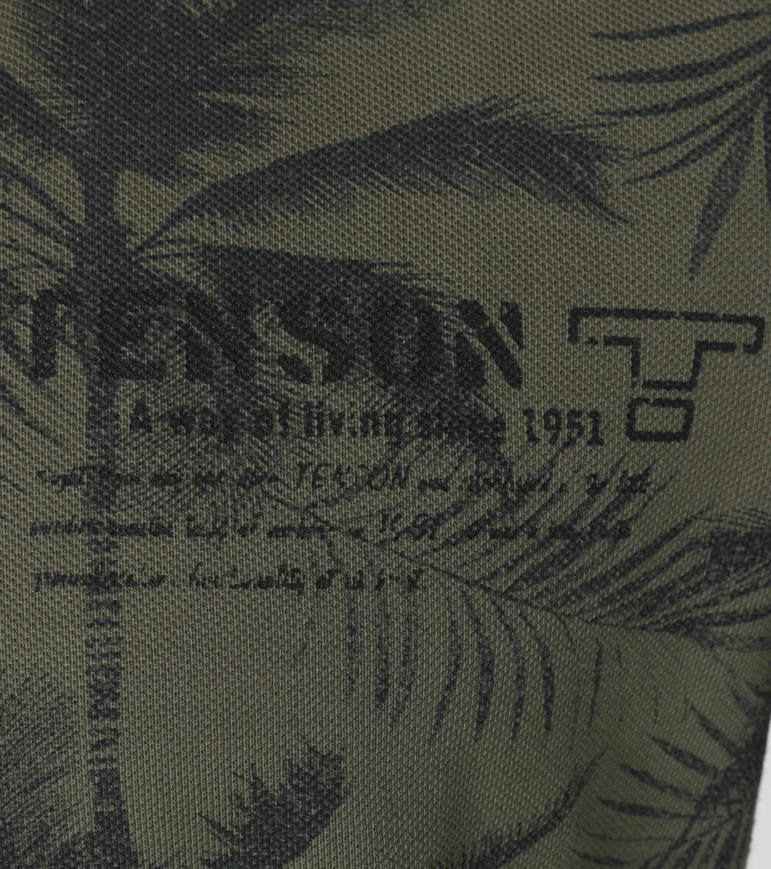 Tenson Polo Palmboom Groen foto 1