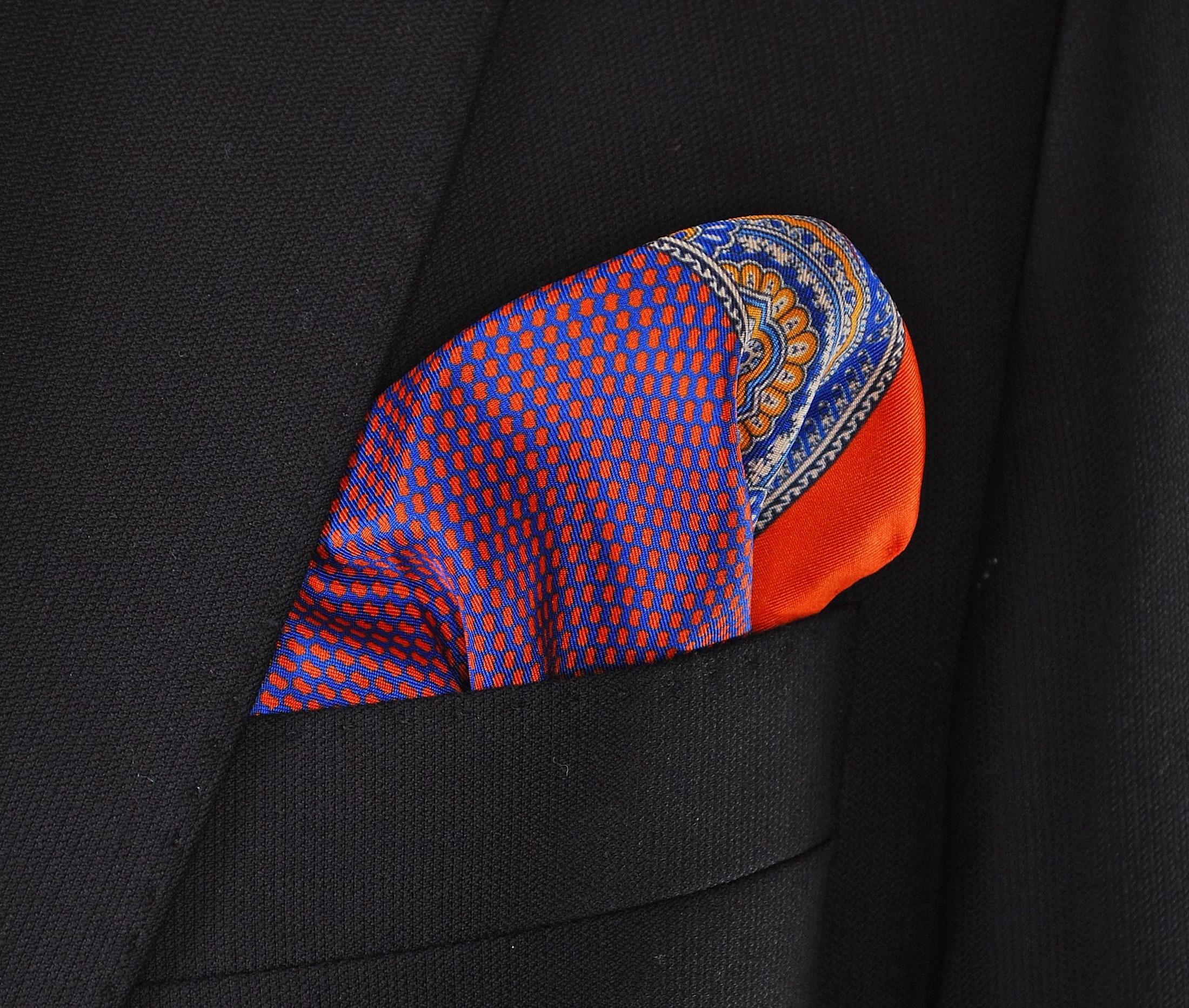 Tie and Pocket Square Silk Orange