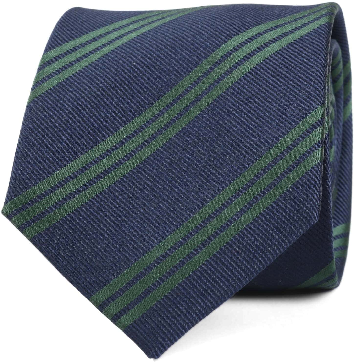 aaa91c12b920 Tie Silk Dark Navy Green Stripes 72 720003 1 Order Suitable