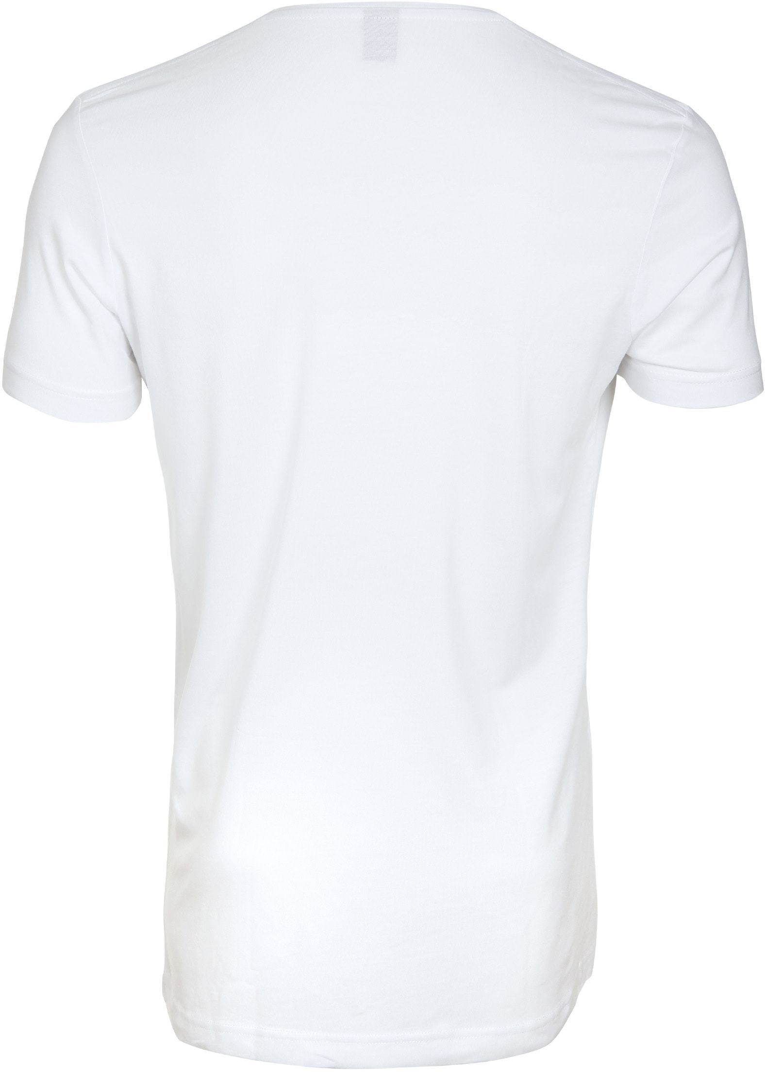 Tiefer V-Ausschnitt 2-Pack Stretch Bambus T-Shirt Weiß foto 2