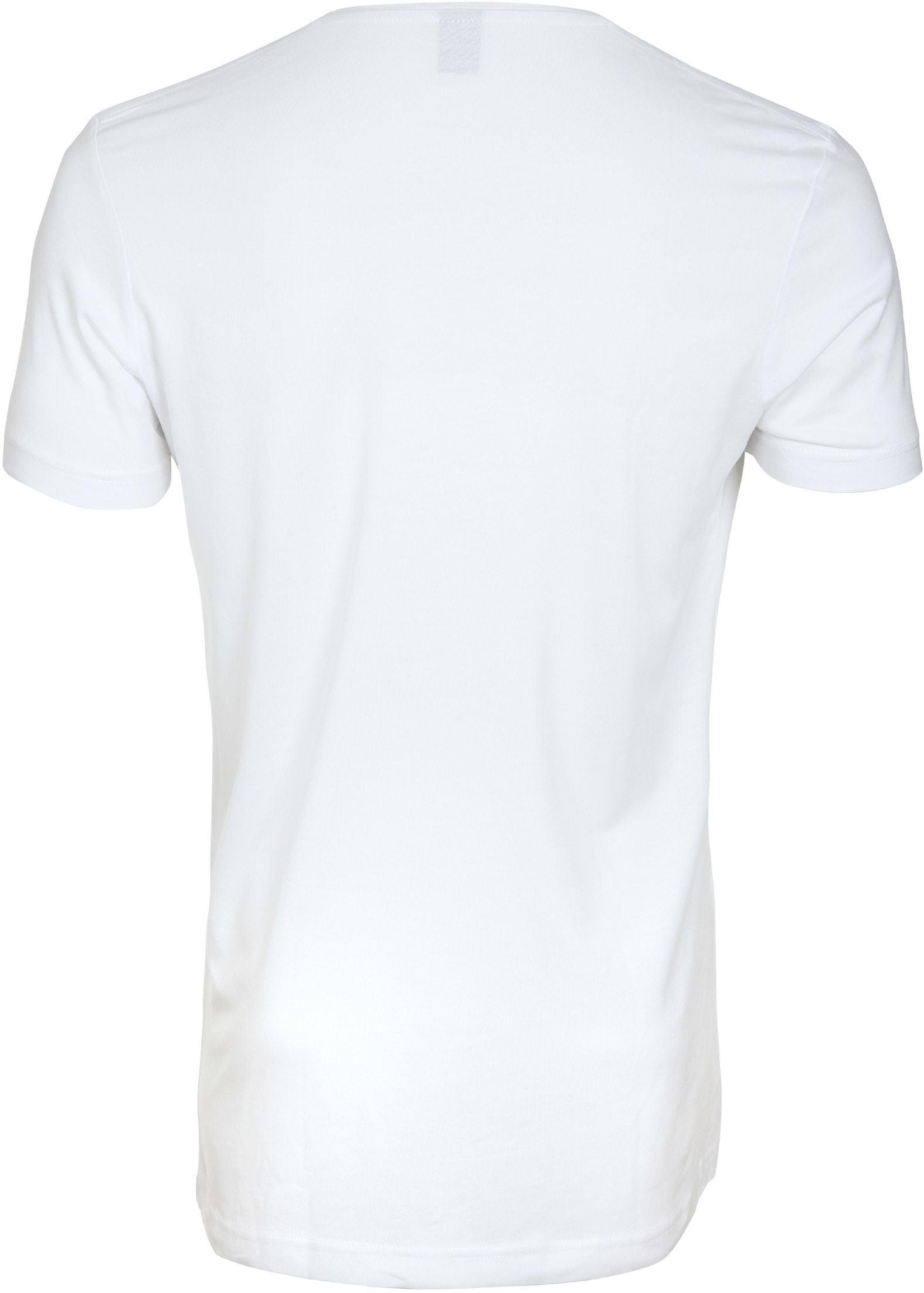 Tiefer V-Ausschnitt 4-Pack Stretch Bambus T-Shirt Weiß foto 2