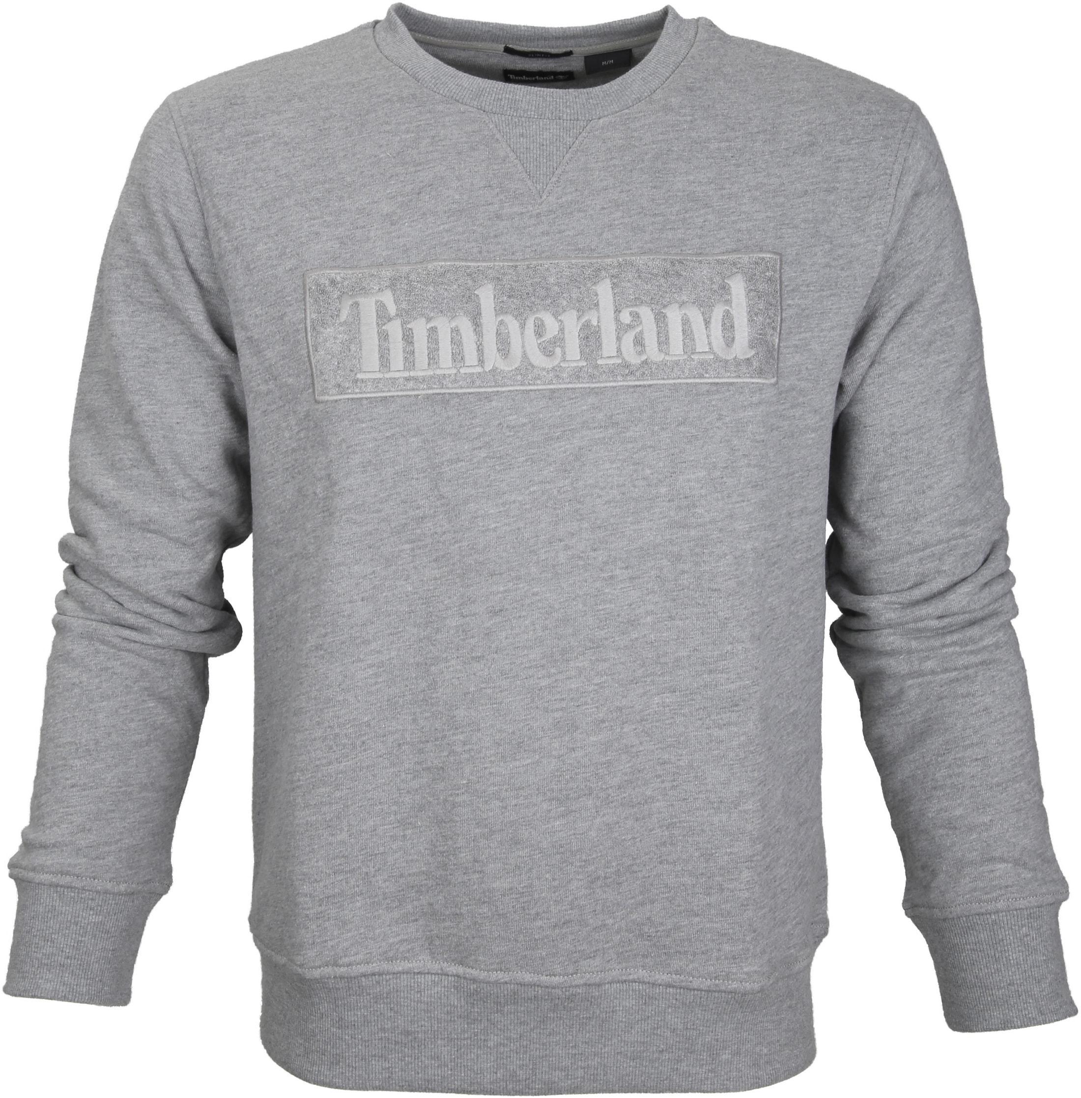 Timberland Sweater Grau Logo foto 0