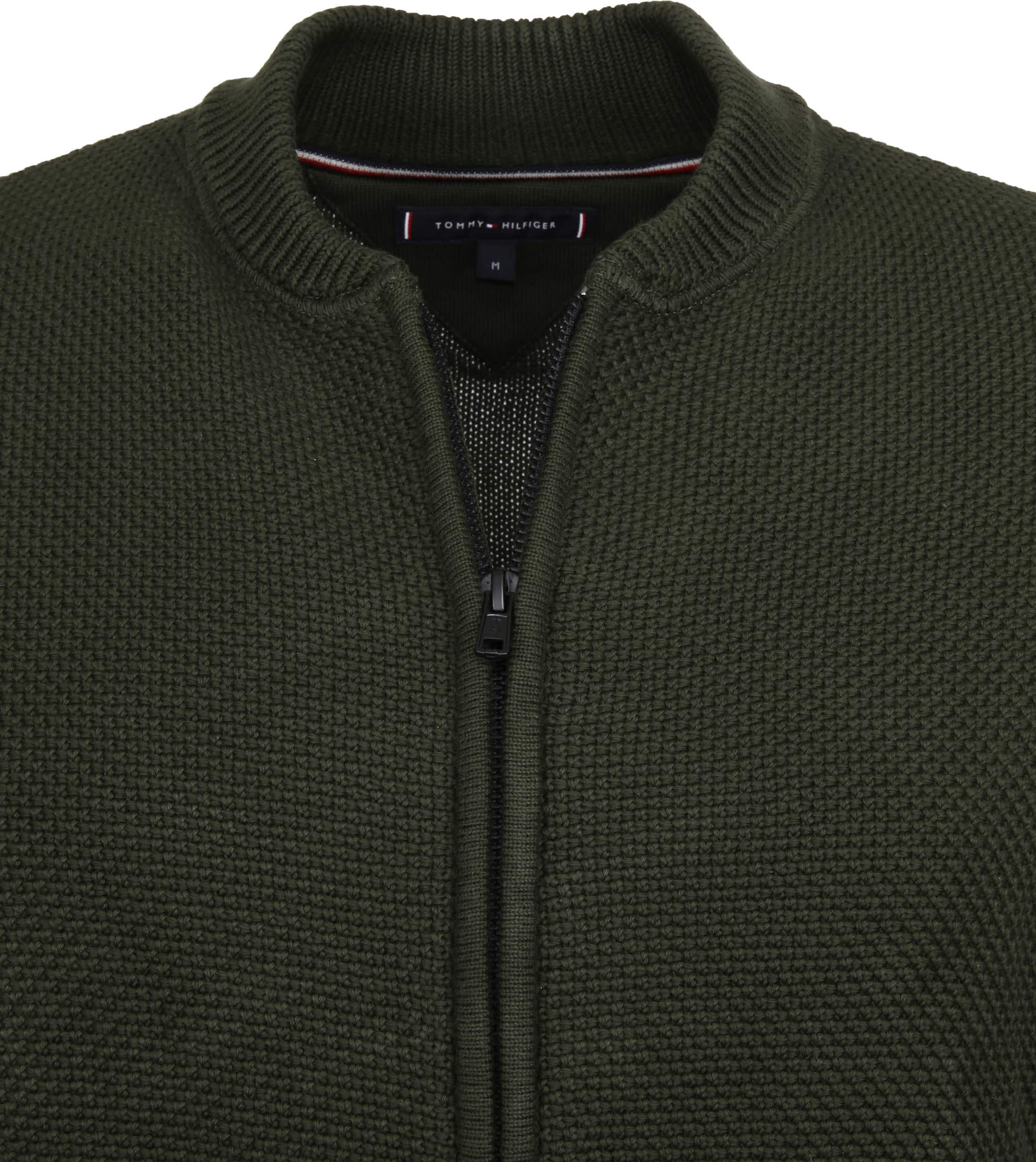 Tommy Hilfiger Cardigan Textured Green foto 1