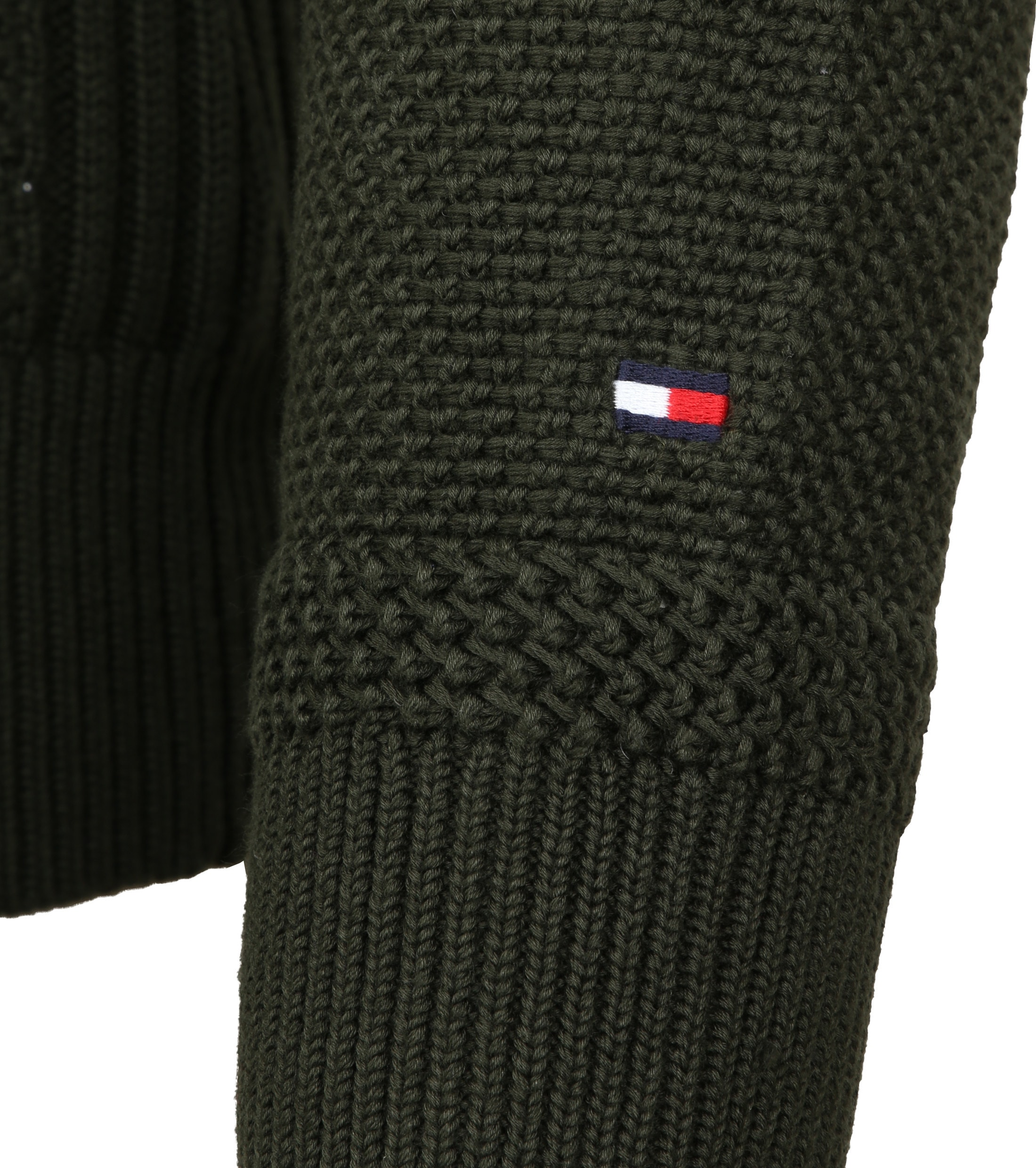 Tommy Hilfiger Cardigan Textured Green foto 4