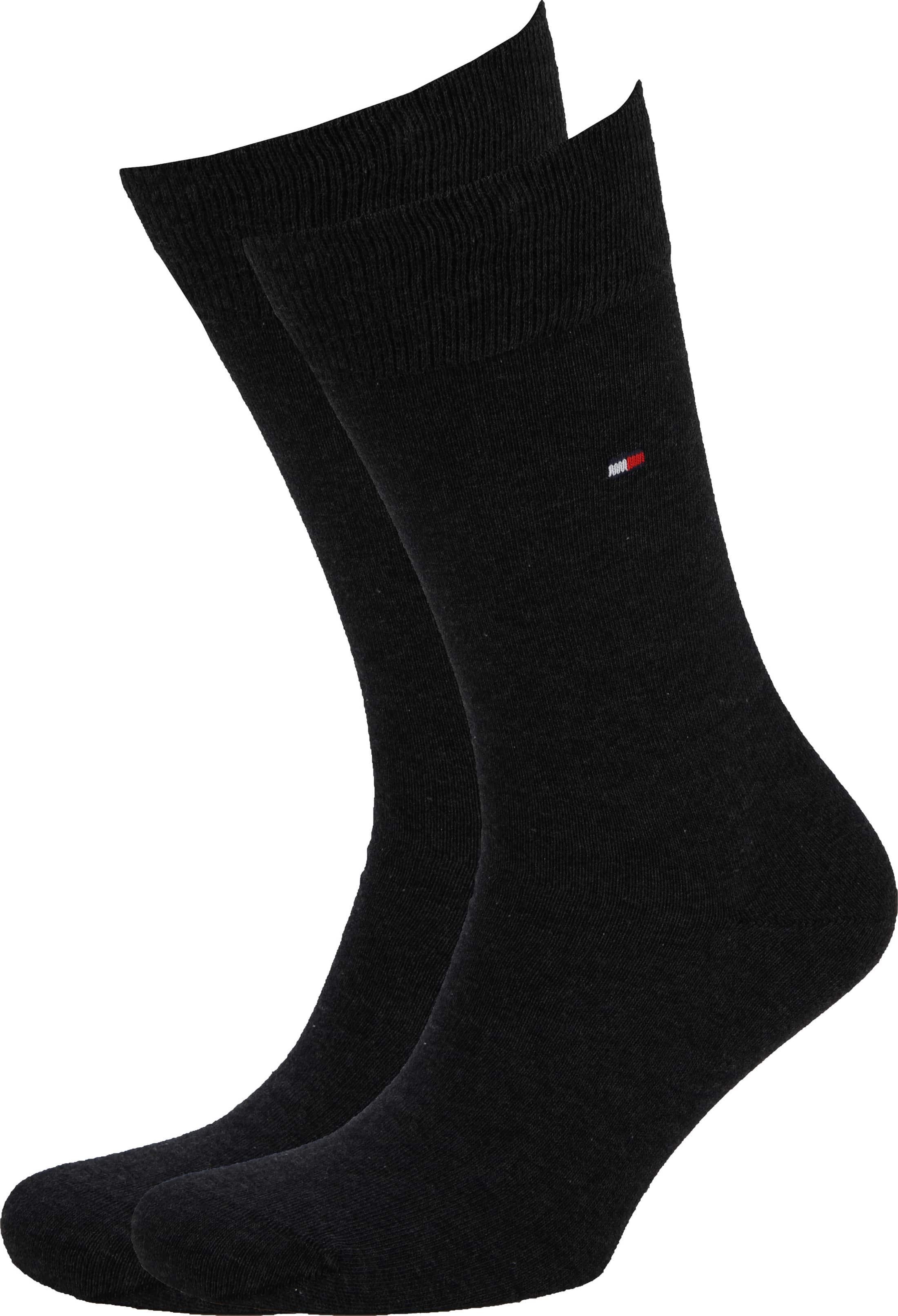 Tommy Hilfiger Classic 2-Pack Sokken Zwart