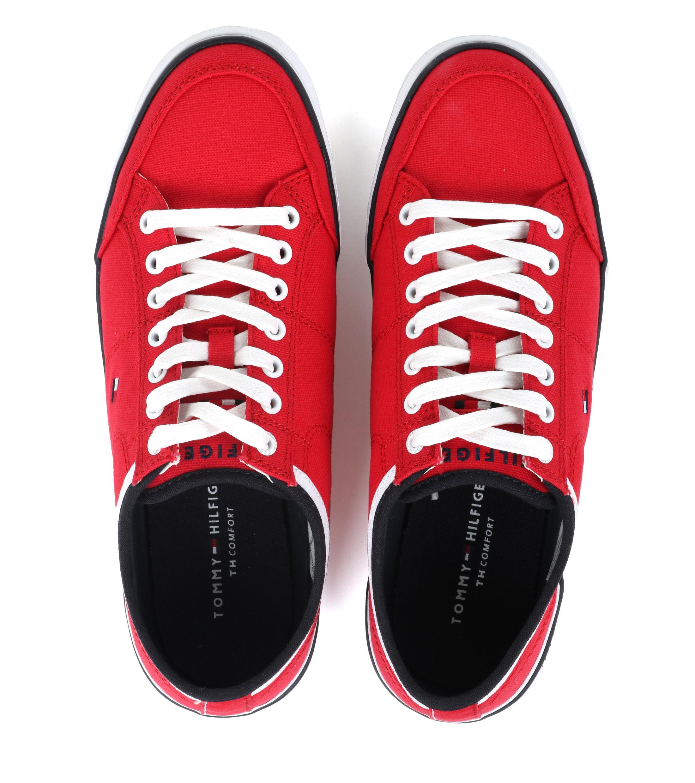 Tommy Hilfiger Core Corporate Sneaker Rood foto 2