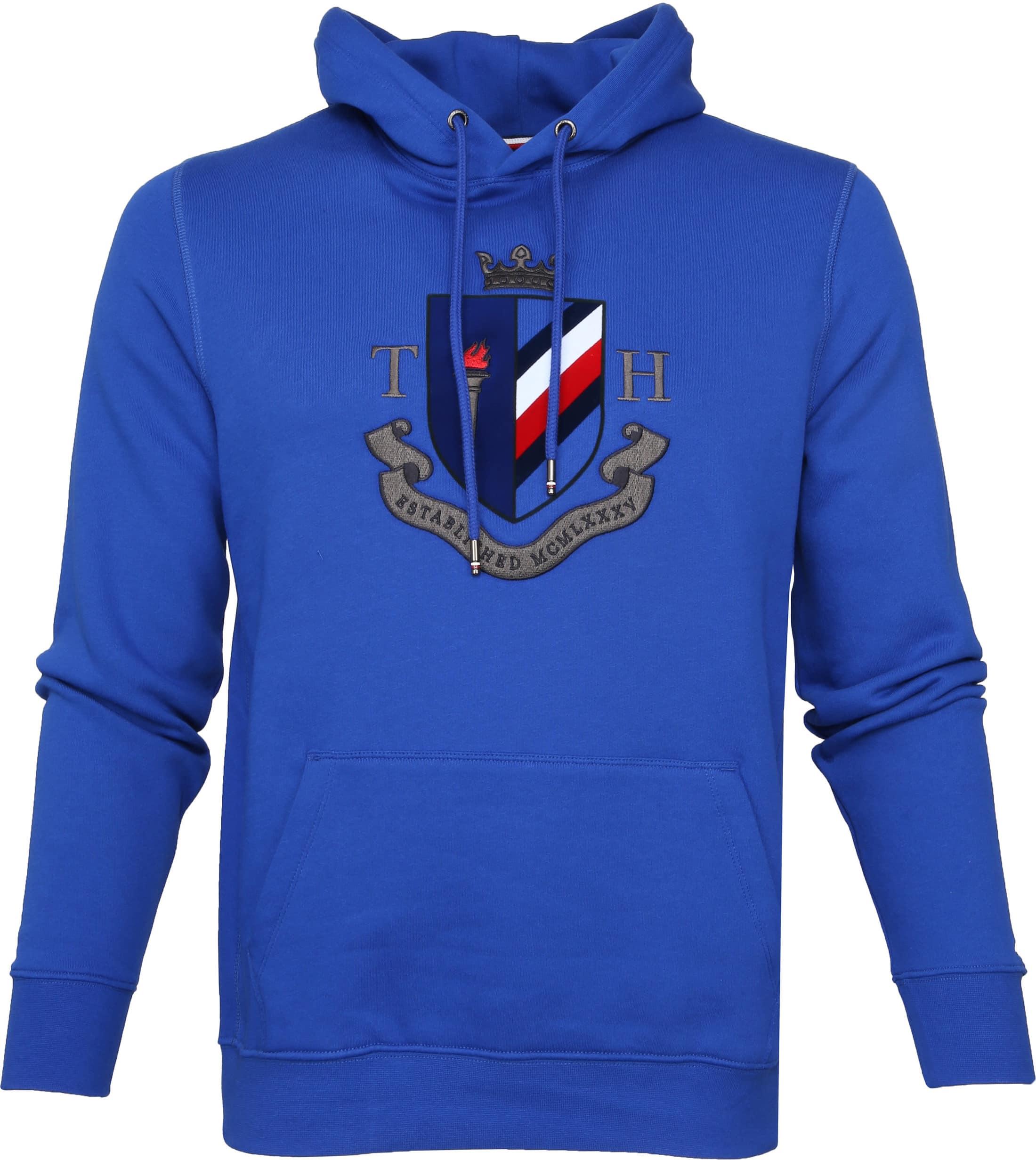spätester Verkauf beste Wahl neuer Stil & Luxus Tommy Hilfiger Crest Hoodie Blau