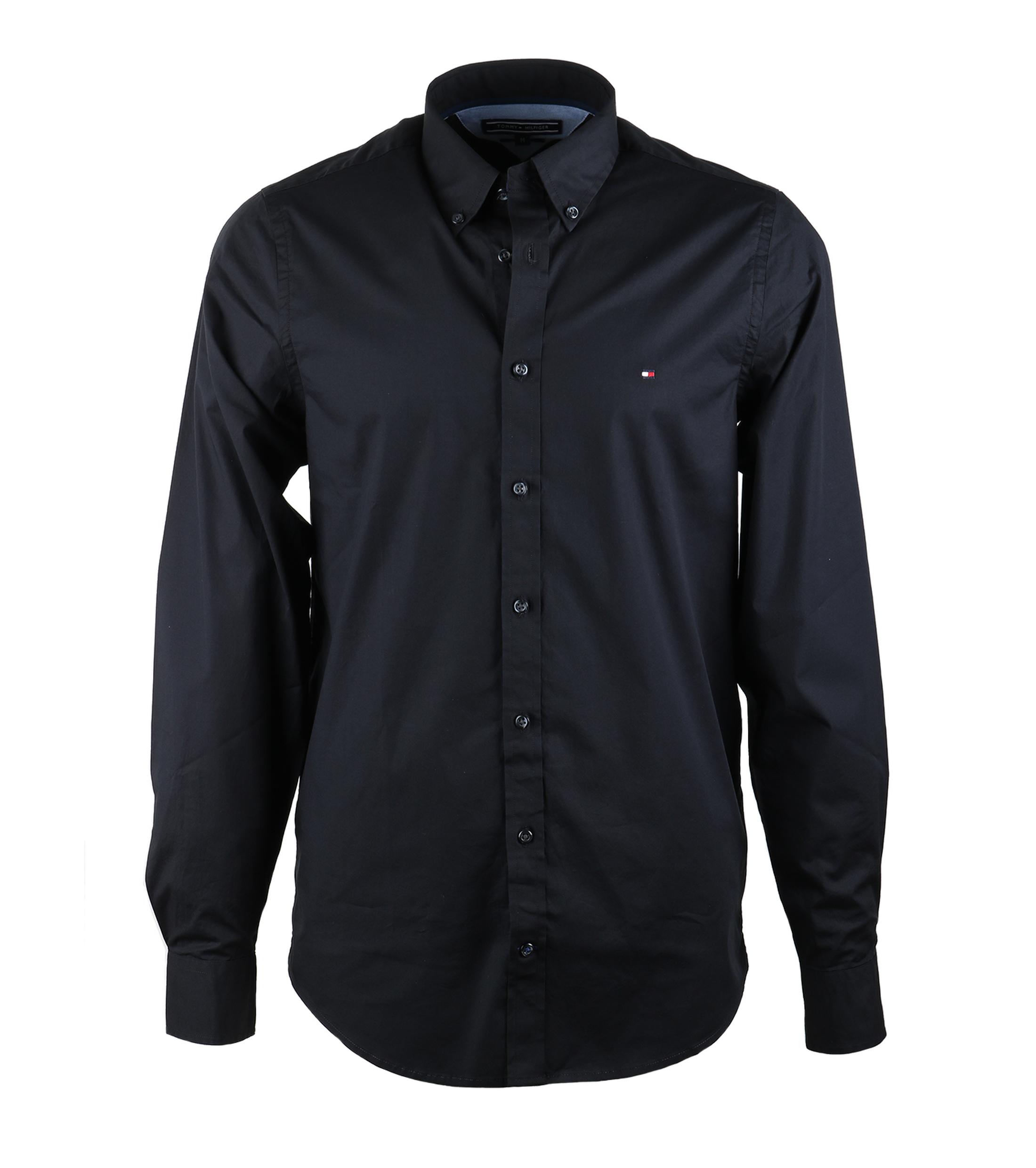 tommy hilfiger hemd schwarz online kaufen suitable. Black Bedroom Furniture Sets. Home Design Ideas