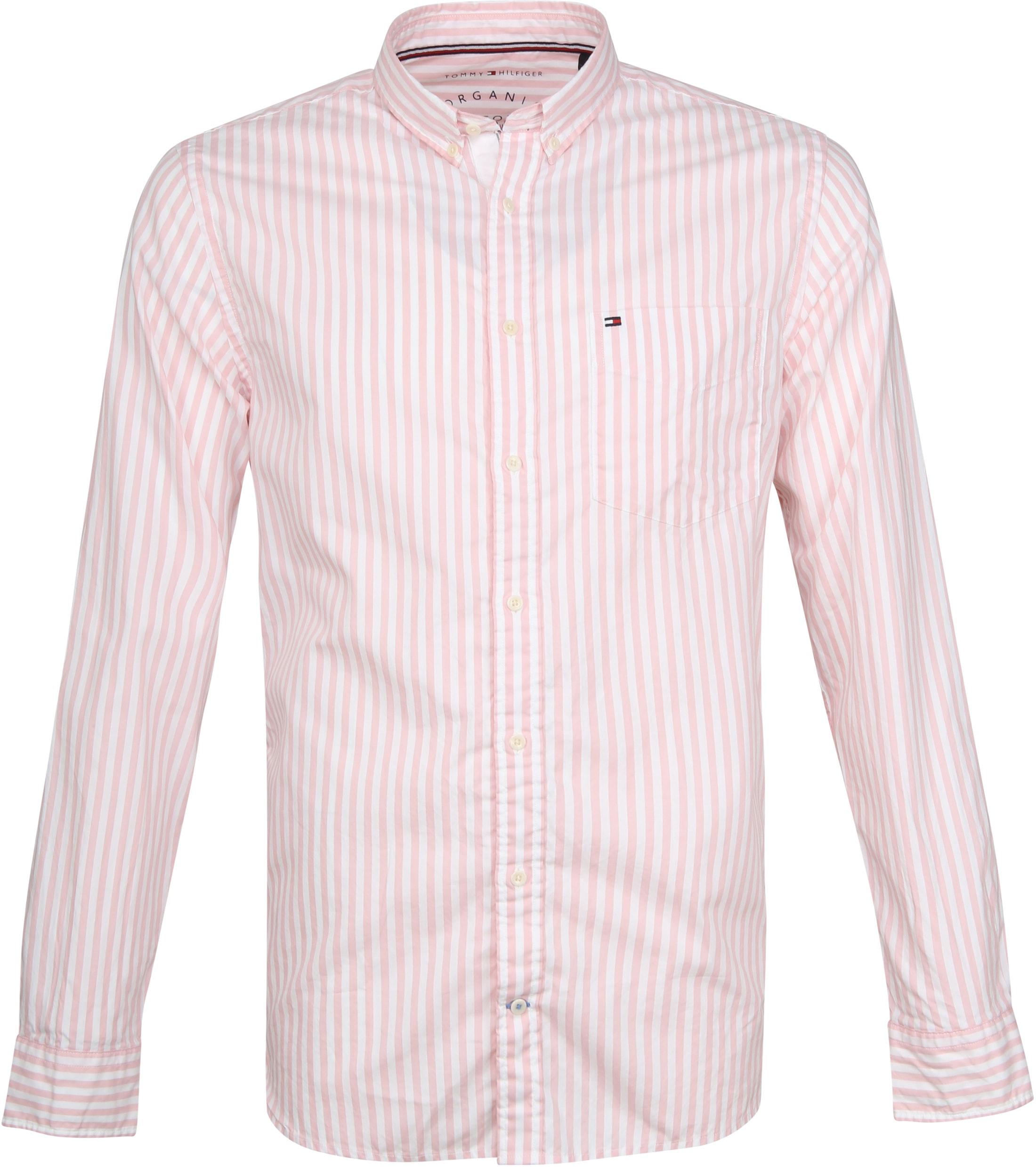 Tommy Hilfiger Oxford Strepen Overhemd Roze foto 0
