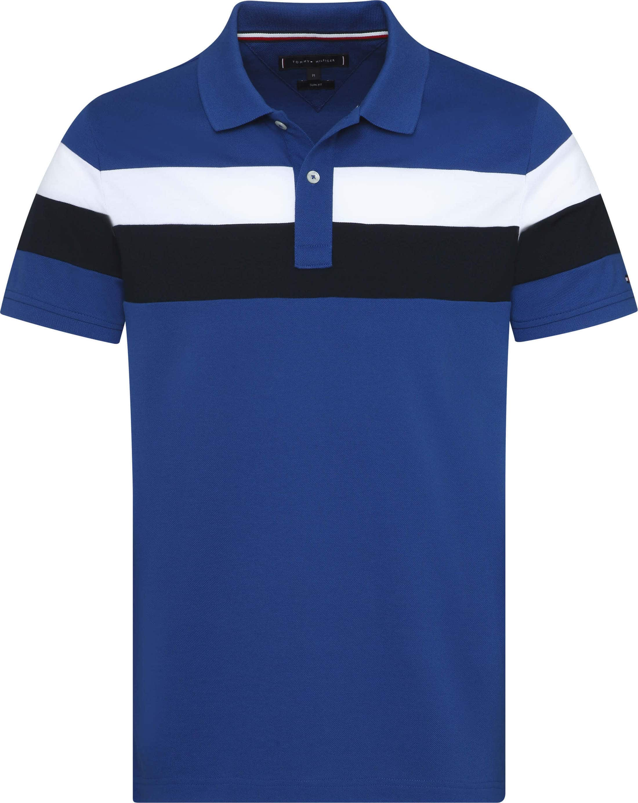 Tommy Hilfiger Polo SF Stripe Mid Blue foto 0