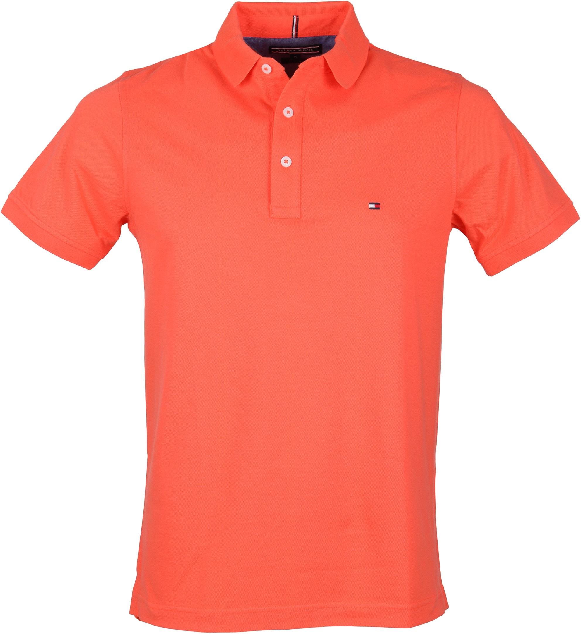 Tommy Hilfiger Polo Uni Oranje foto 0
