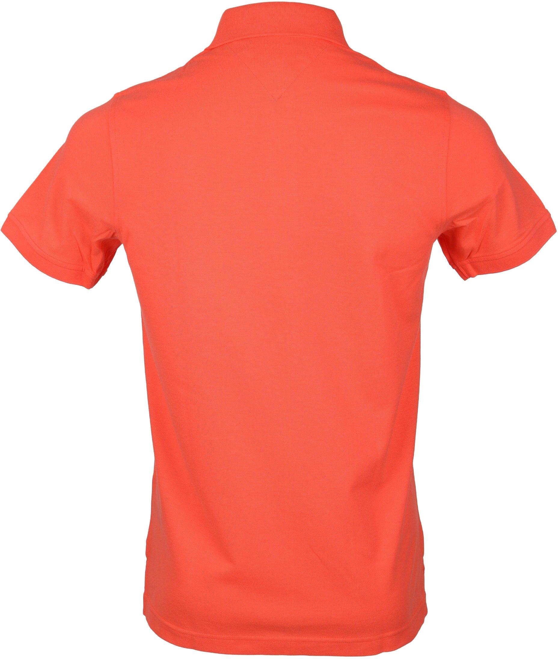 Tommy Hilfiger Polo Uni Oranje foto 2
