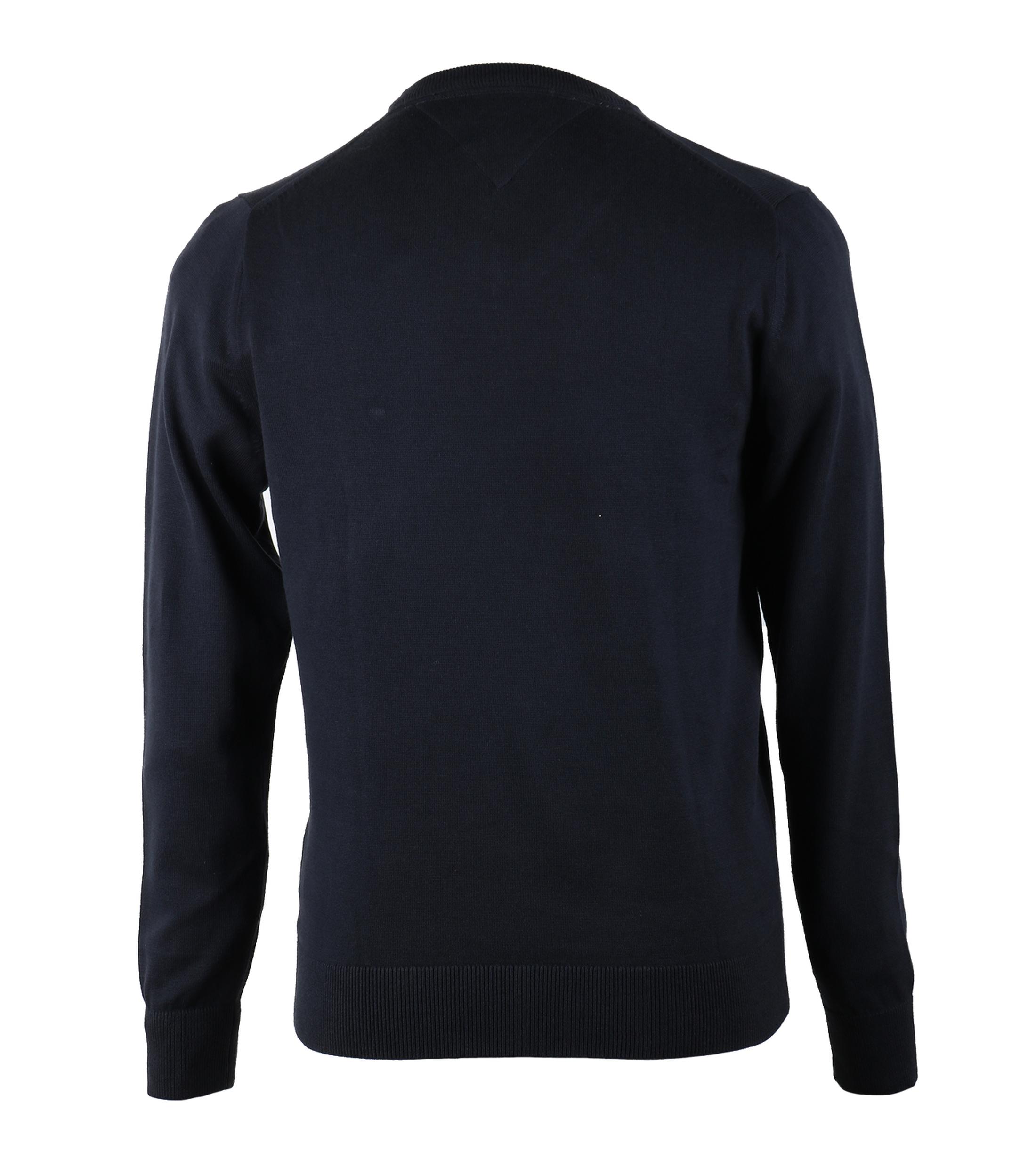Tommy Hilfiger Pullover V-Hals Donkerblauw foto 1