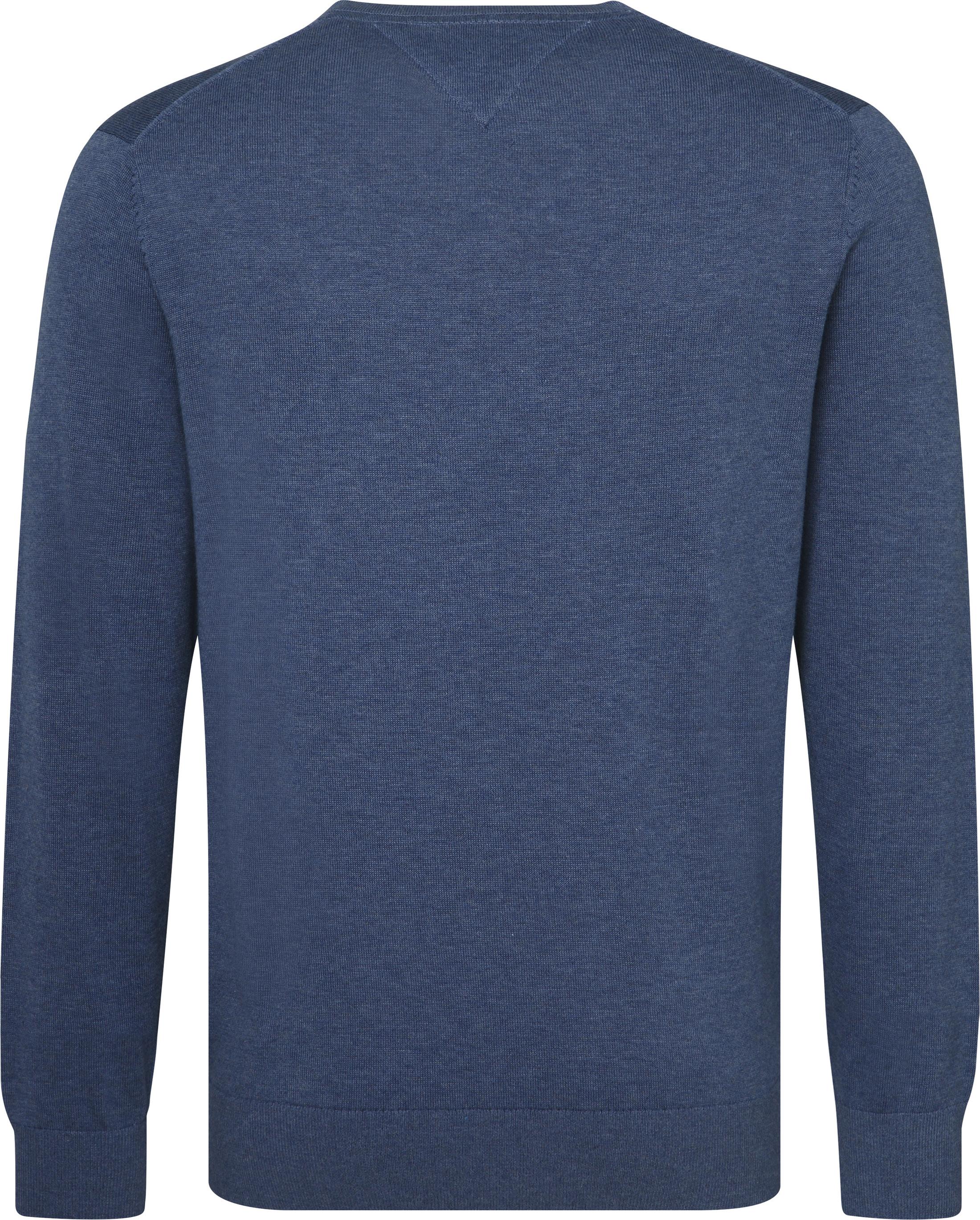 Tommy Hilfiger Pullover V-Hals Indigo Blauw foto 1