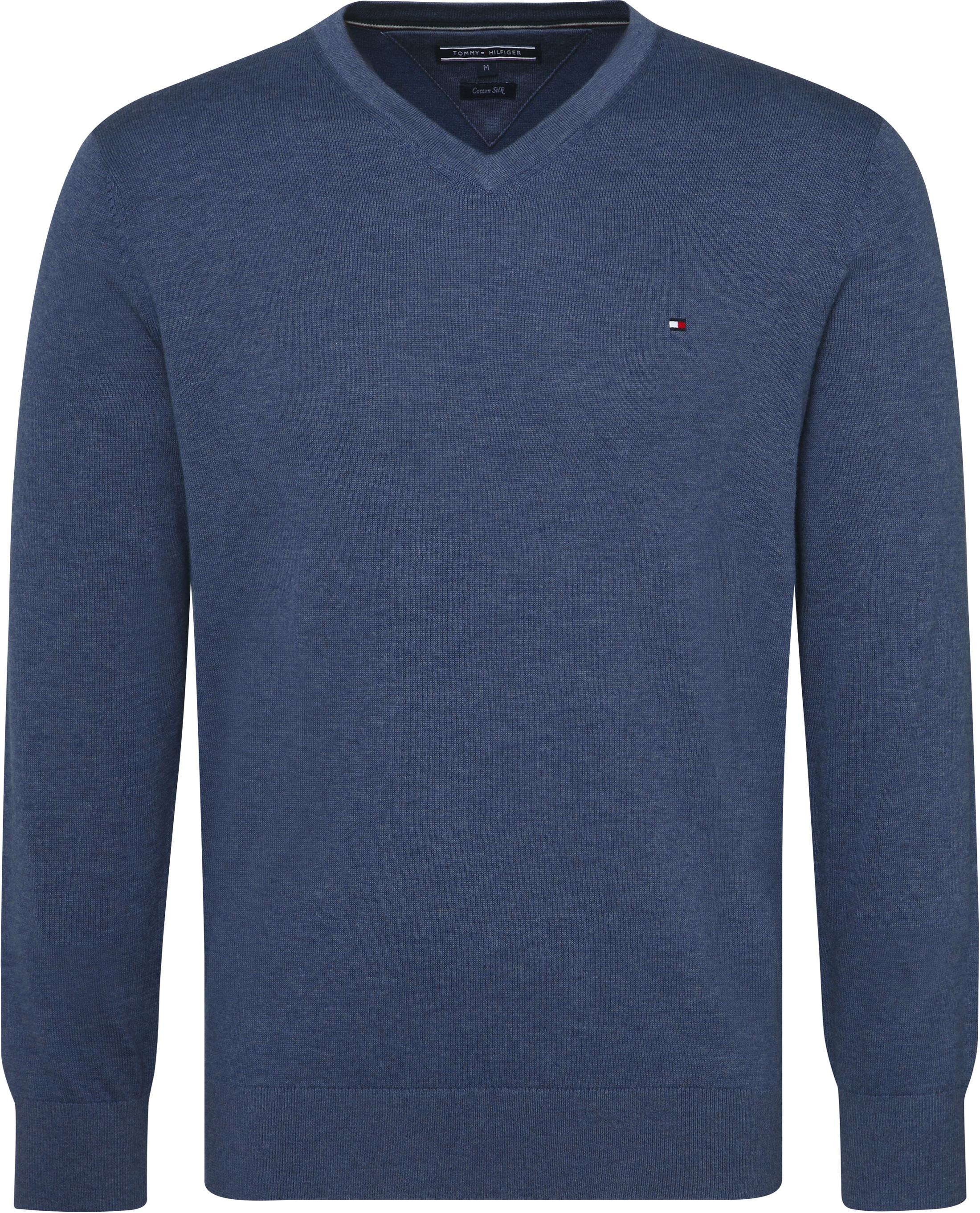 Tommy Hilfiger Pullover V-Hals Indigo Blauw foto 0