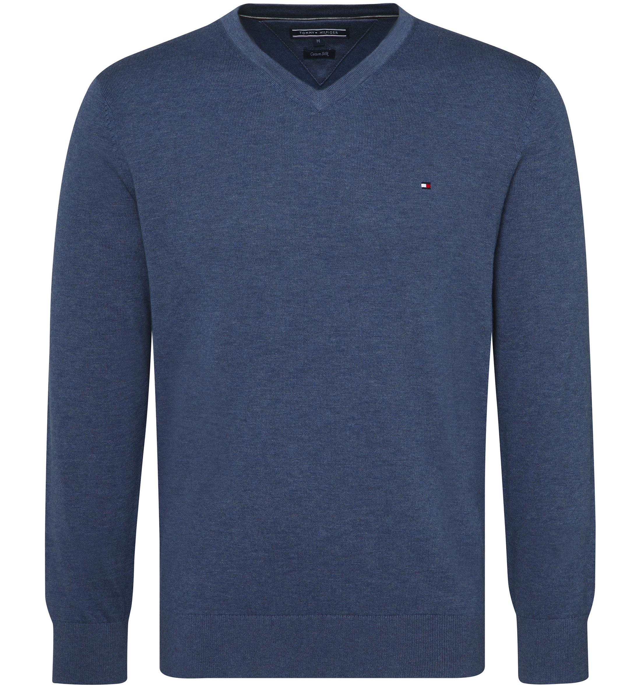 b80106f94 Tommy Hilfiger Pullover V-Neck Indigo Blue MW0WM07884-094 order ...