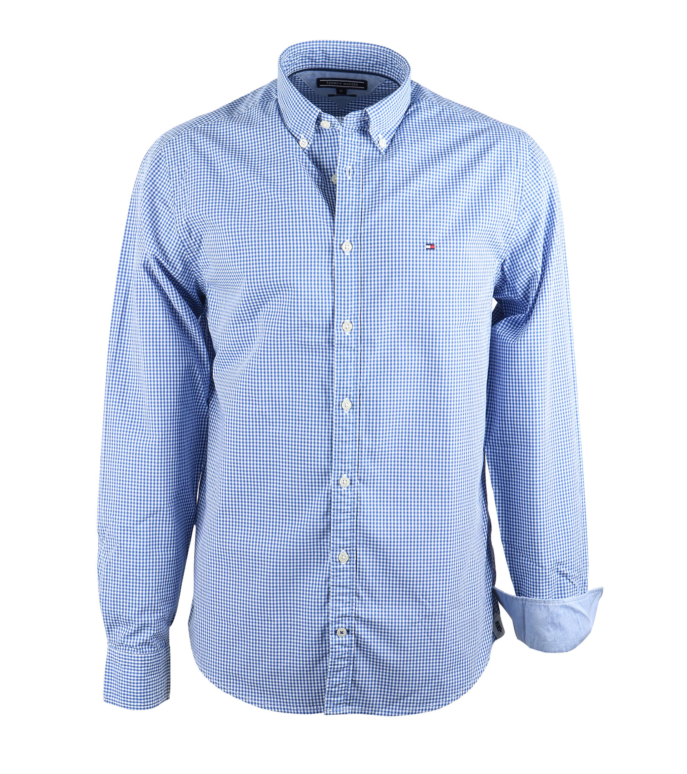 Tommy Hilfiger Shirt Blue Check Order Online Suitable