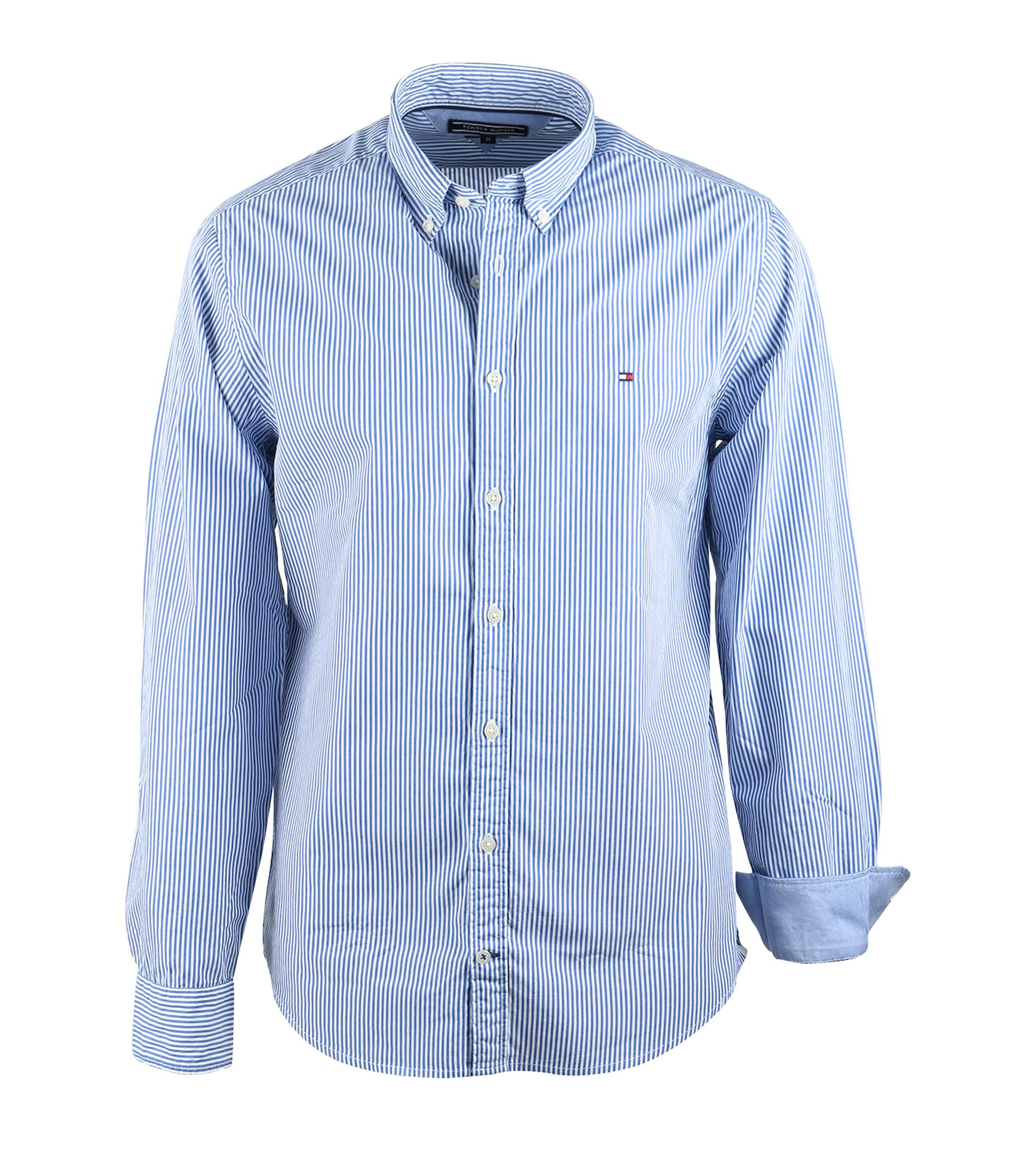 Tommy hilfiger shirt blue stripe online bestellen suitable for Tommy hilfiger fitzgerald striped shirt