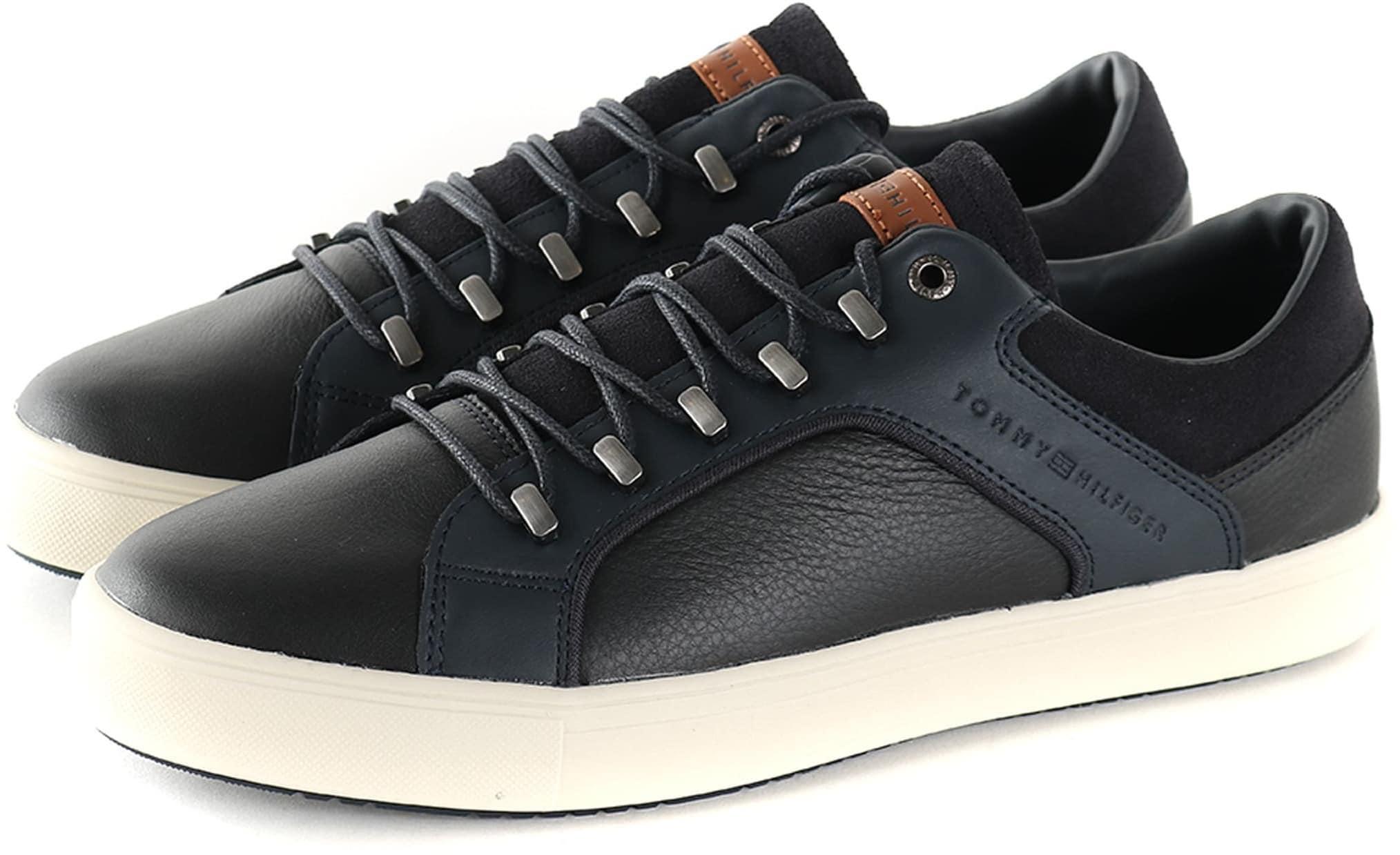 Tommy Hilfiger Sneaker Zwart + Donkerblauw foto 0