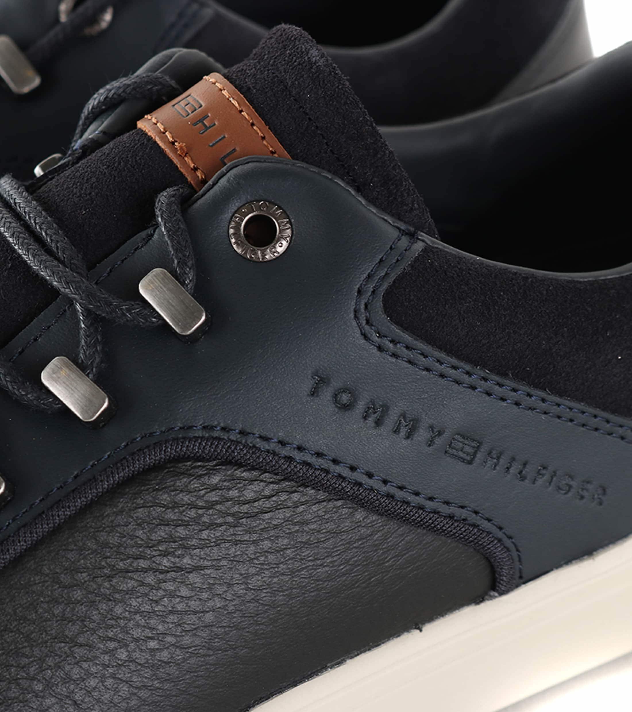 Tommy Hilfiger Sneaker Zwart + Donkerblauw foto 1