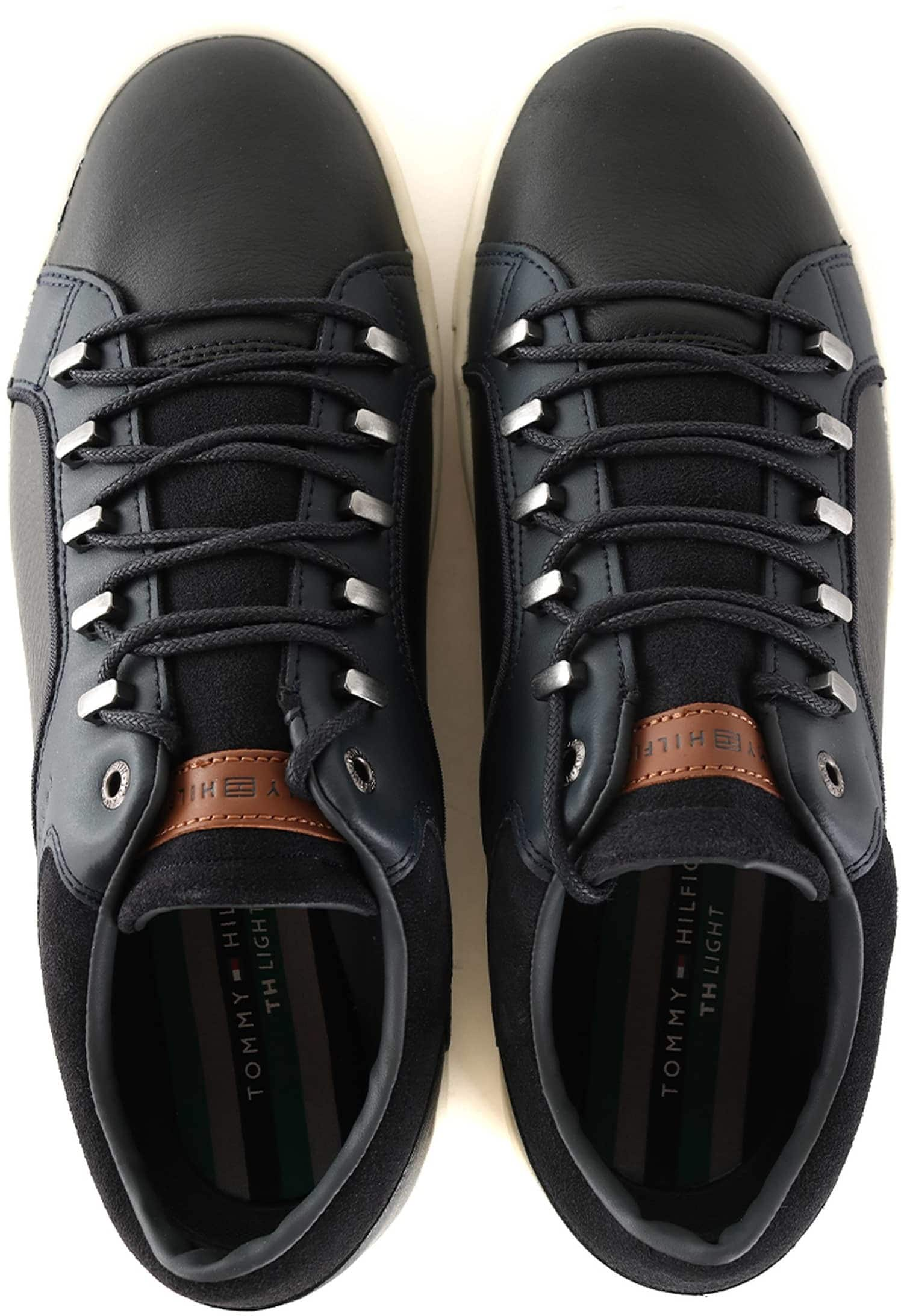 Tommy Hilfiger Sneaker Zwart + Donkerblauw foto 3