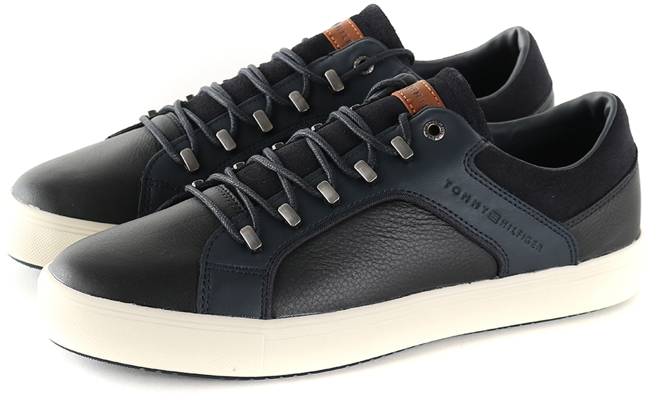 Tommy Hilfiger Sneaker Zwart + Donkerblauw foto 5