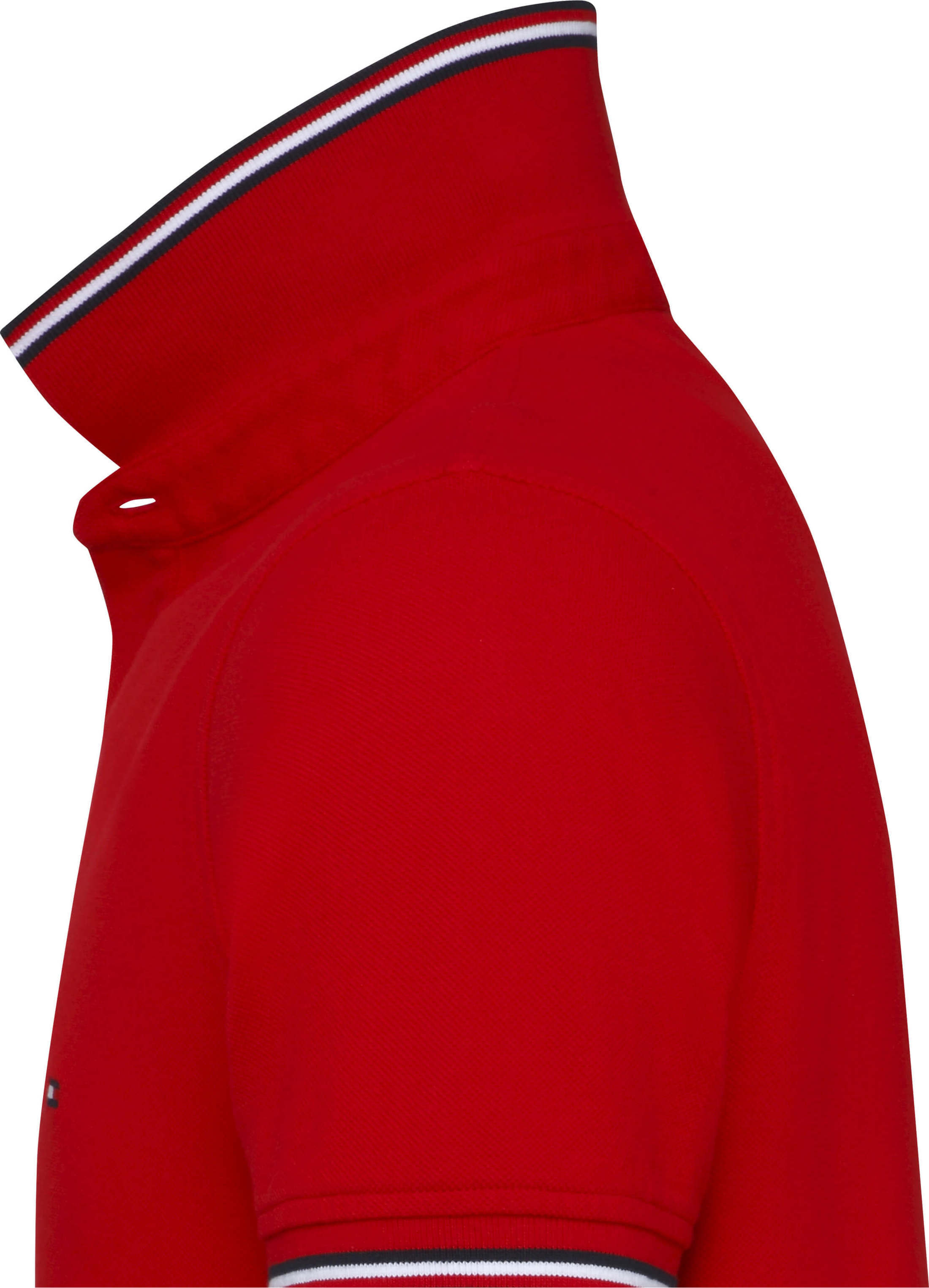 Tommy Hilfiger Stripes Poloshirt Red foto 1