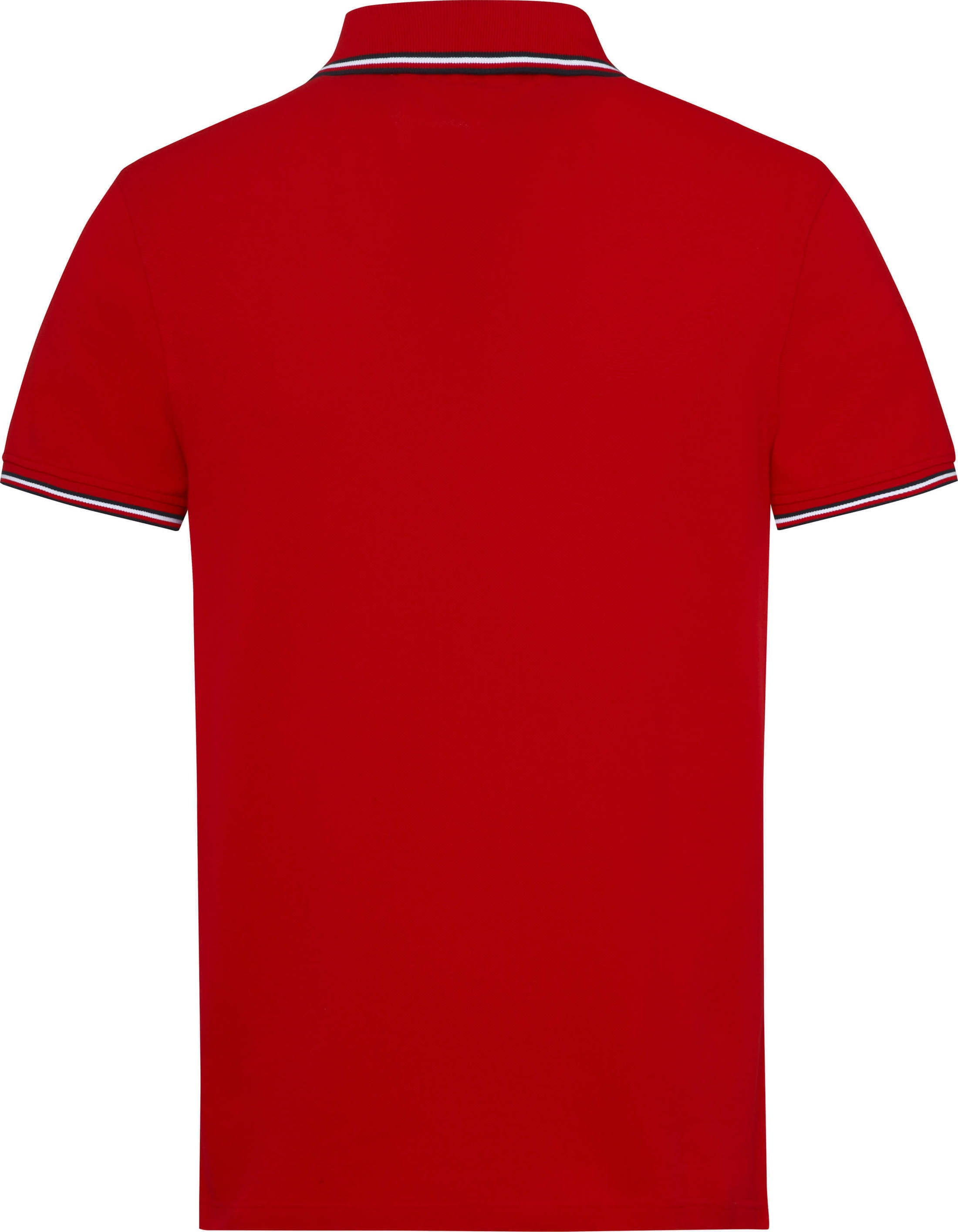 Tommy Hilfiger Stripes Poloshirt Red foto 2