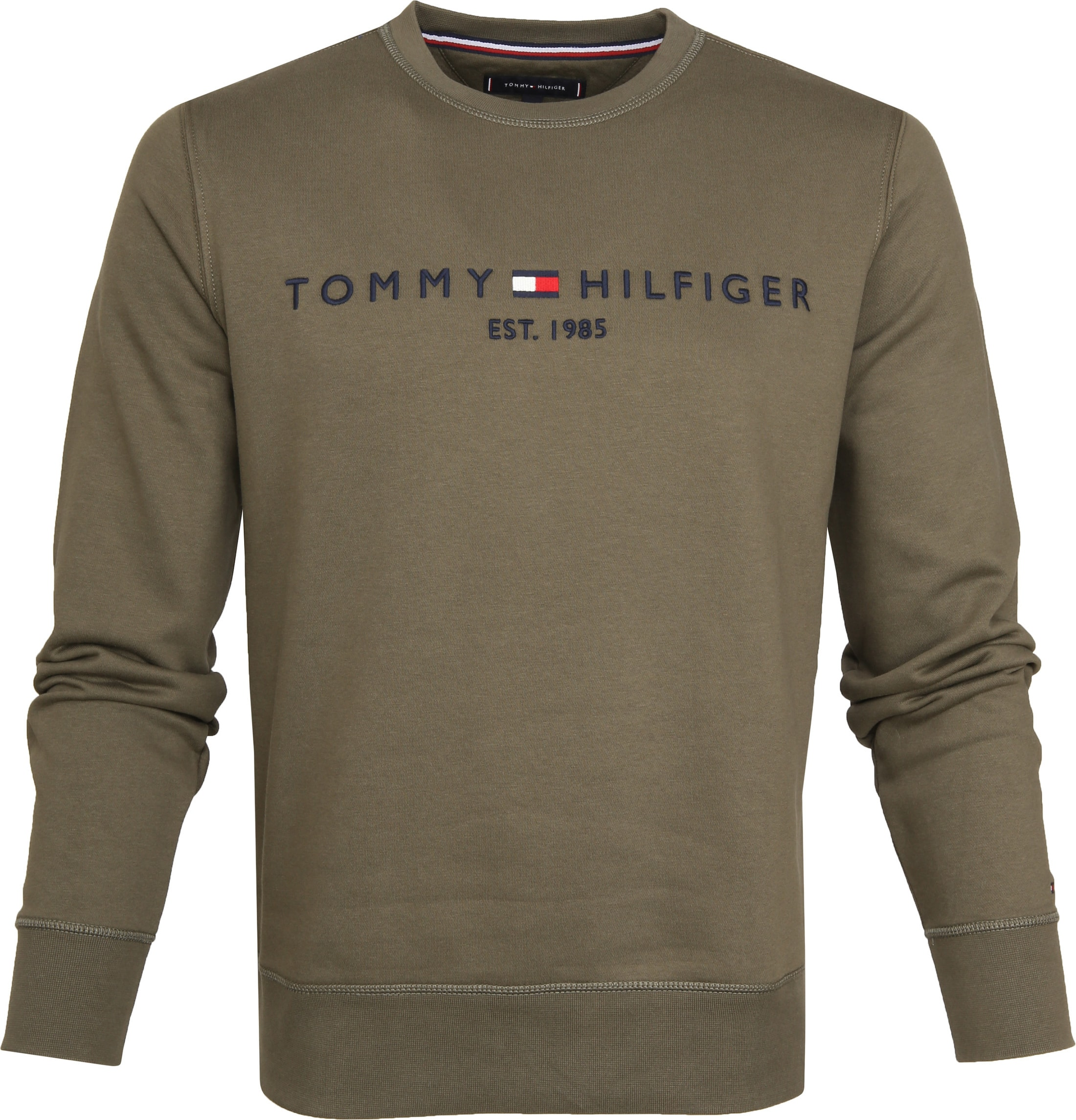 Moderne Tommy Hilfiger Sweater Logo Dark Green MW0MW11596-LFH- Grape Leaf XW-84