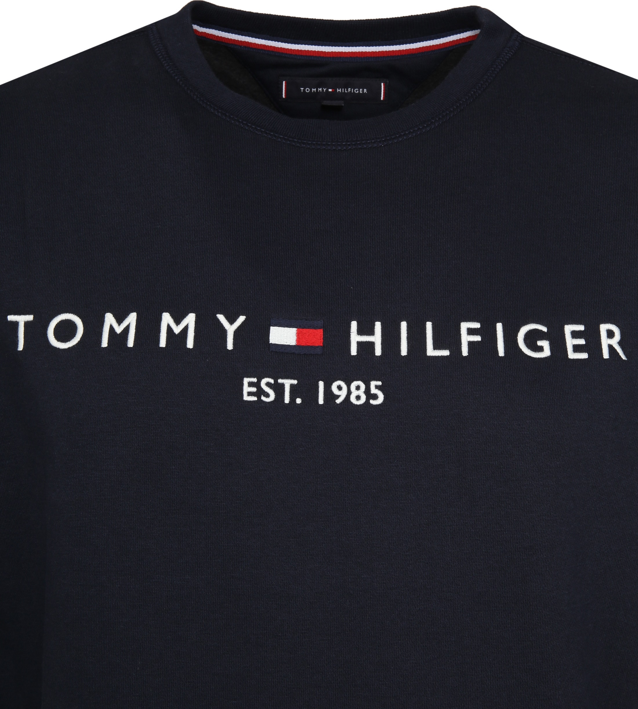 Tommy Hilfiger Sweater Logo Navy foto 1