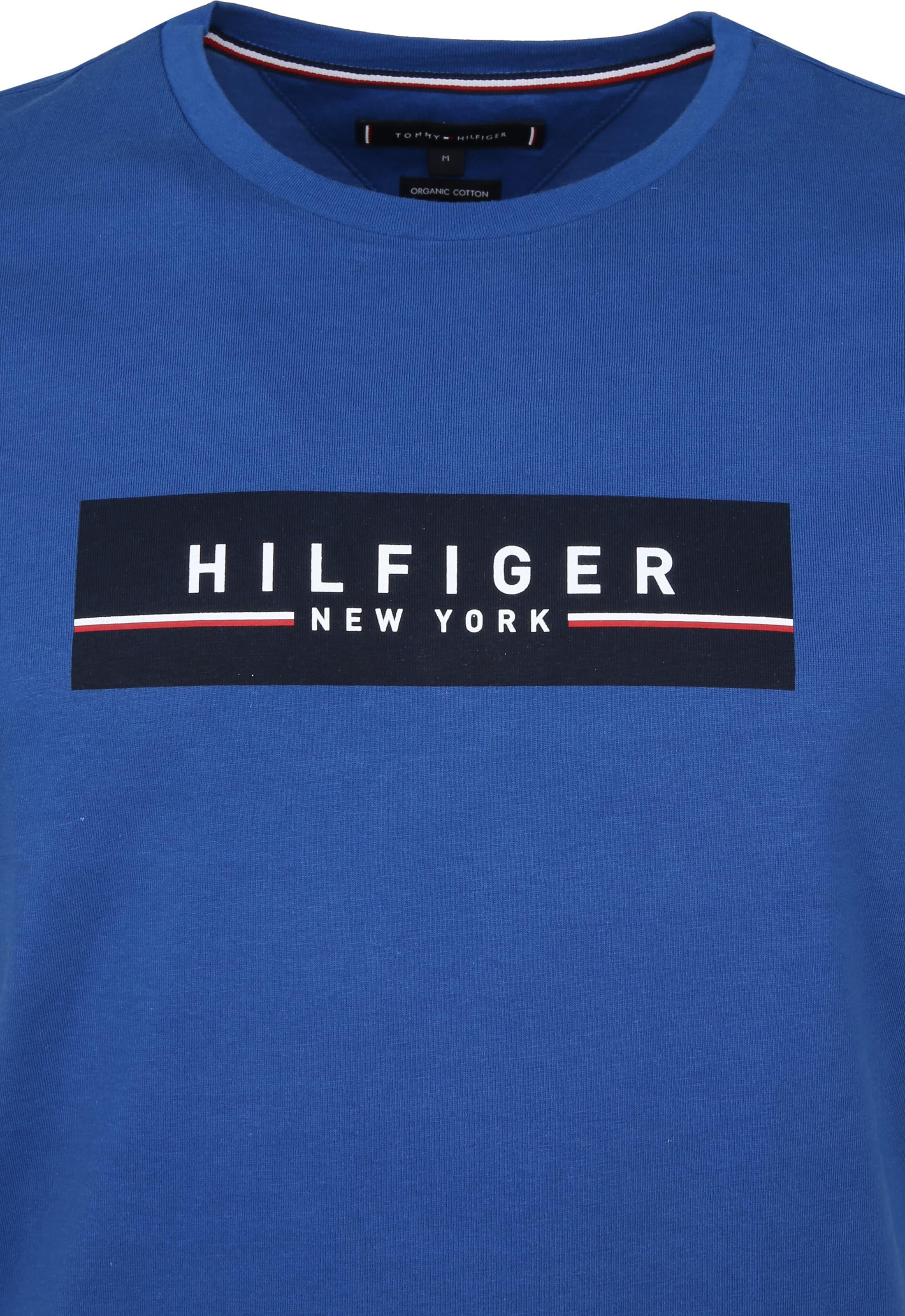 Tommy Hilfiger T-shirt Box Print Blue foto 1