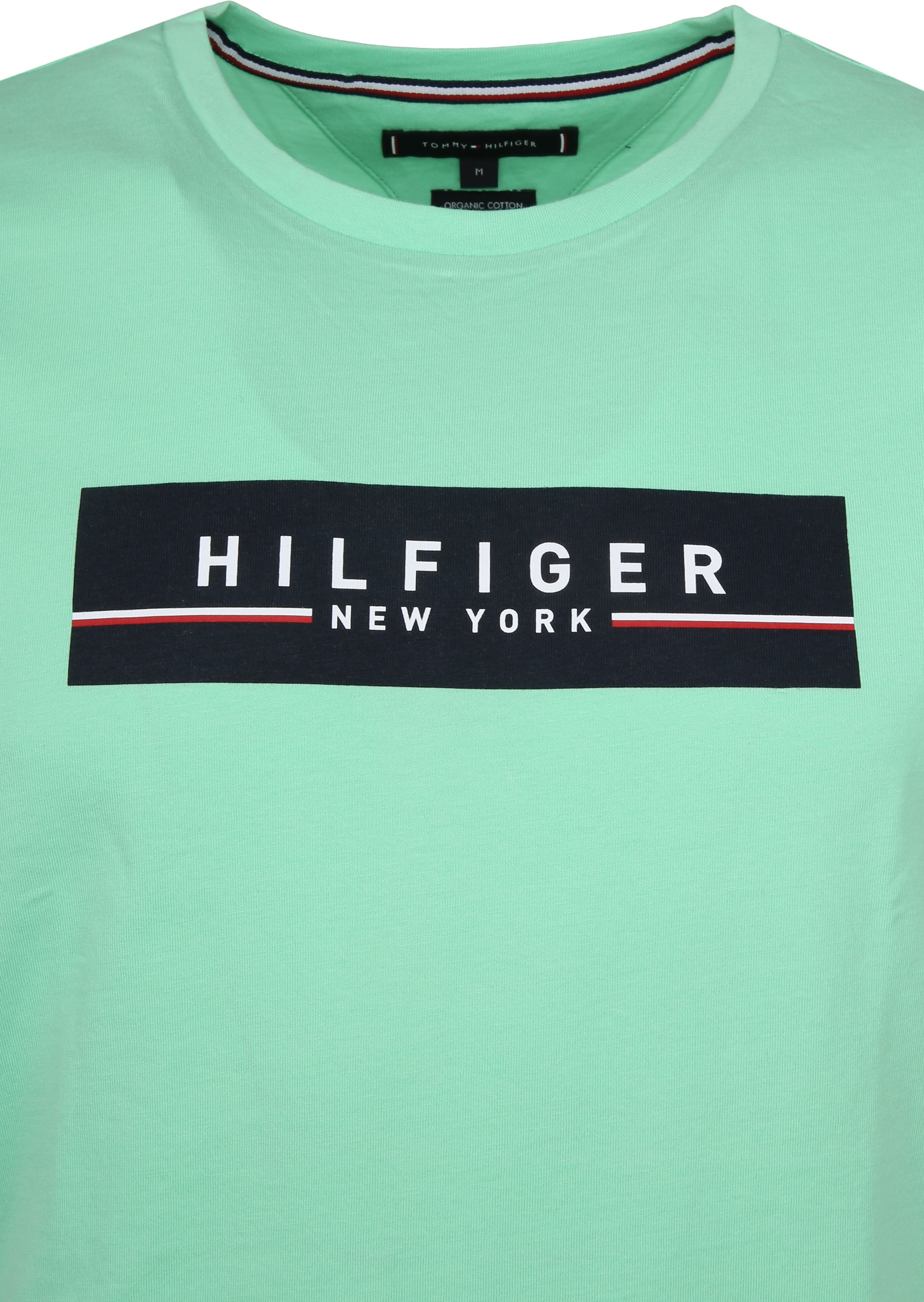 Tommy Hilfiger T-shirt Box Print Light Green foto 1
