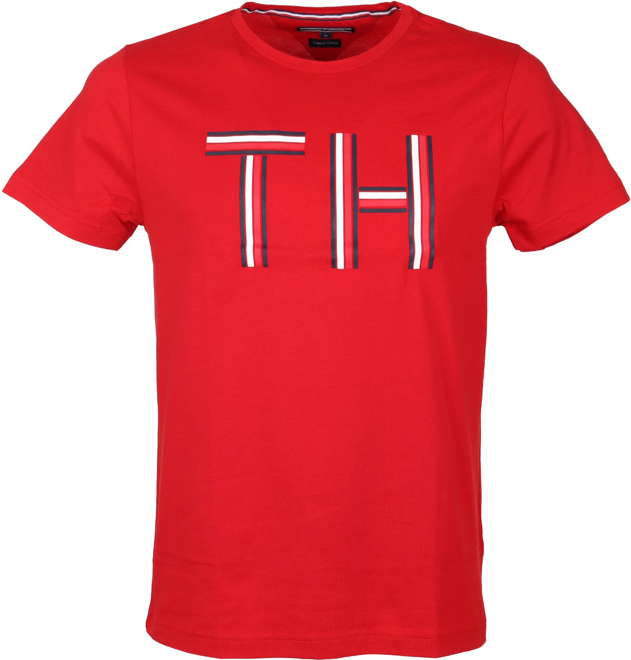 tommy hilfiger t shirt logo rood online bestellen suitable. Black Bedroom Furniture Sets. Home Design Ideas