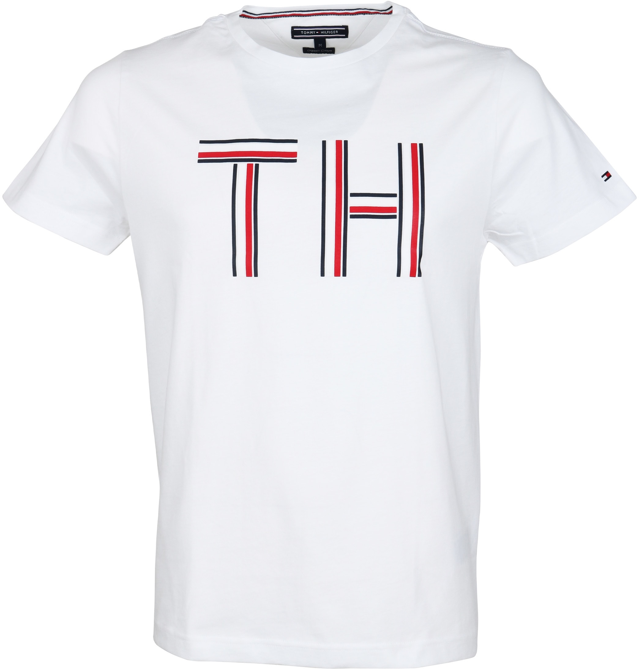 tommy hilfiger t shirt logo wit online bestellen suitable. Black Bedroom Furniture Sets. Home Design Ideas