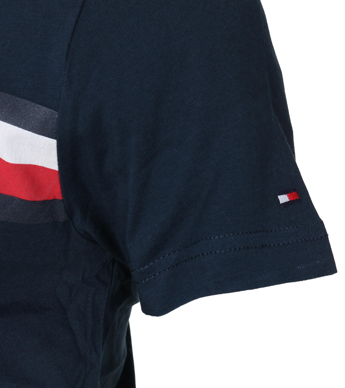 Tommy Hilfiger T-shirt TH Blauw foto 2