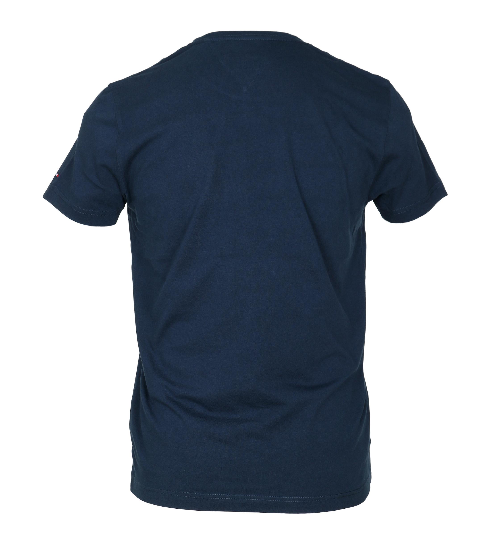 Tommy Hilfiger T-shirt TH Blauw foto 3