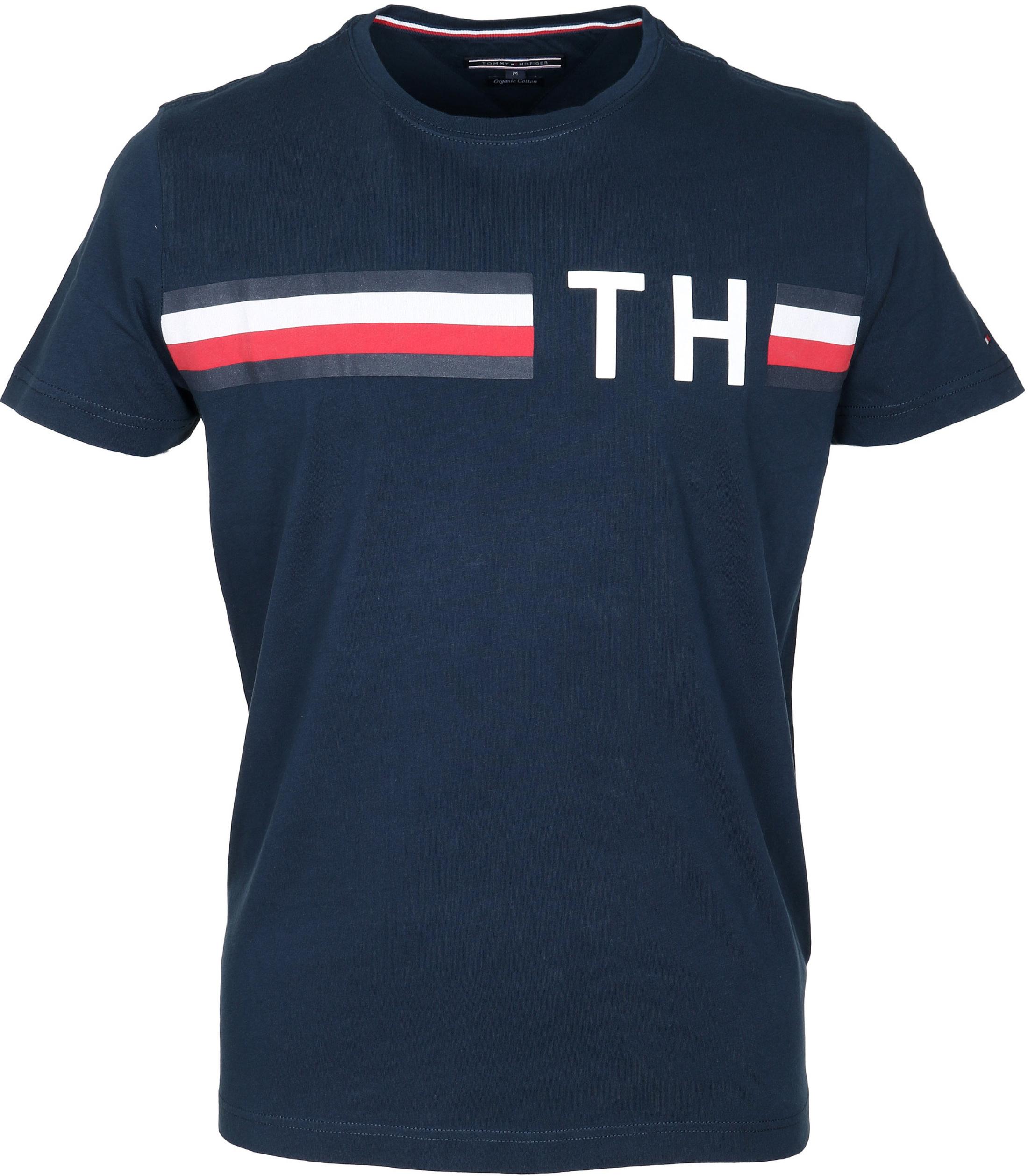 Tommy Hilfiger T-shirt TH Dunkelblau foto 0