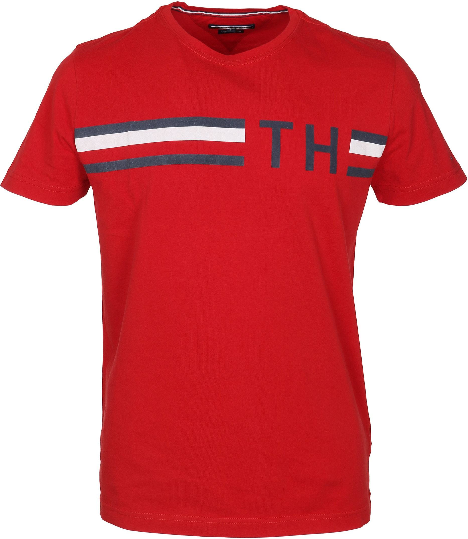 Tommy Hilfiger T-shirt TH Rood foto 0