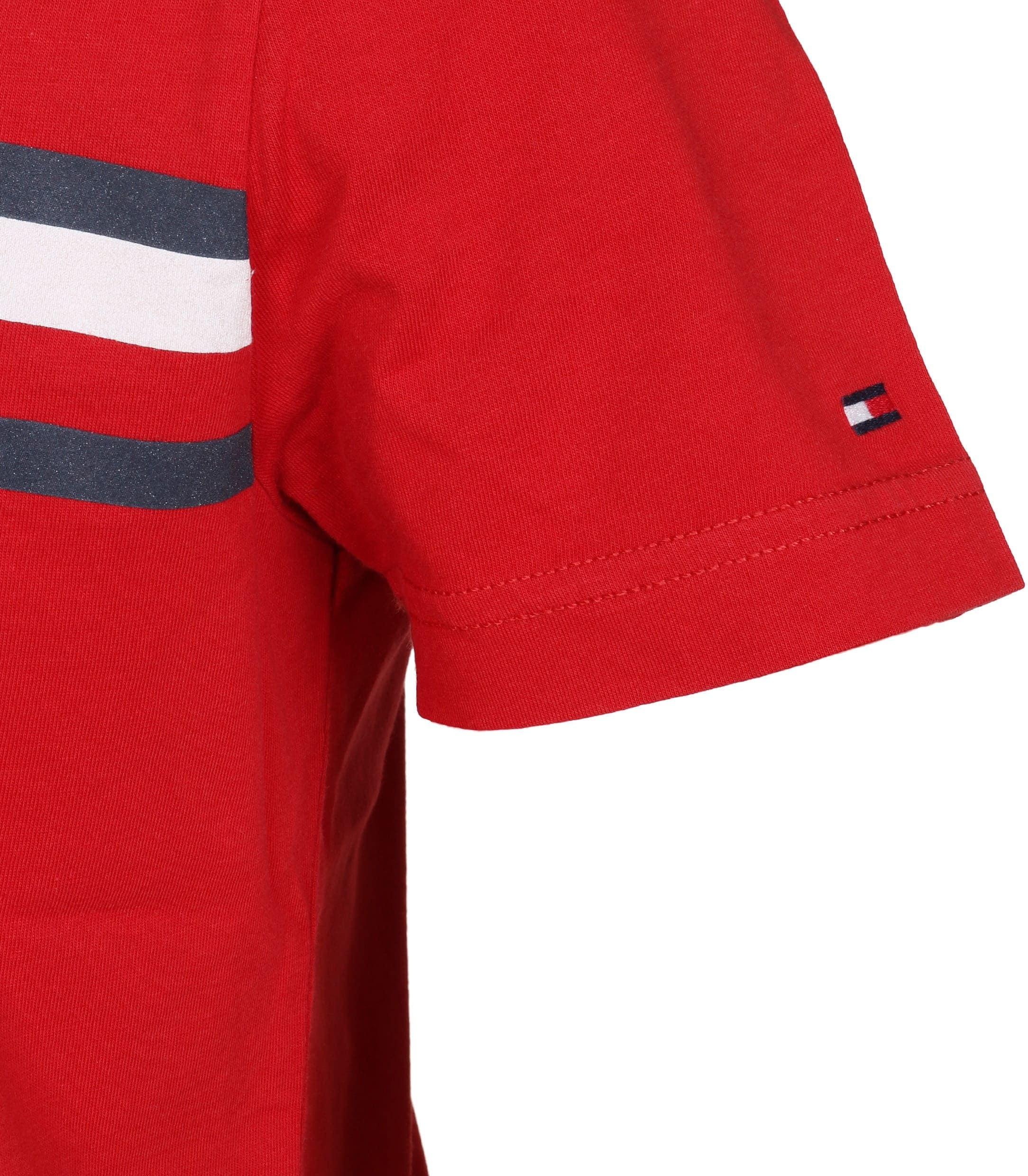 Tommy Hilfiger T-shirt TH Rood foto 2