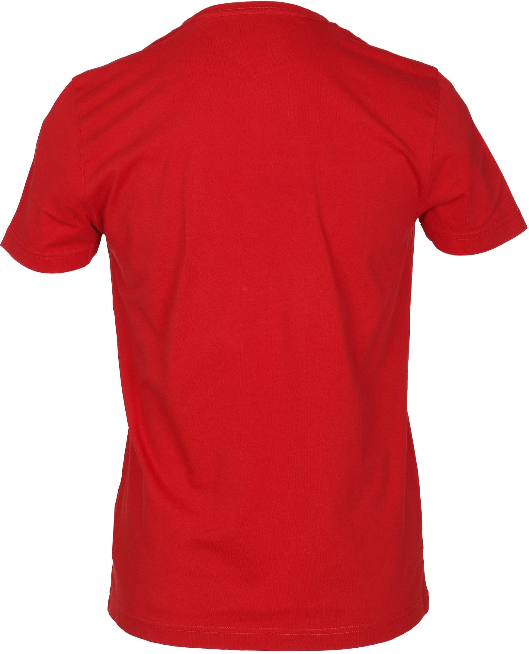 Tommy Hilfiger T-shirt TH Rood foto 3