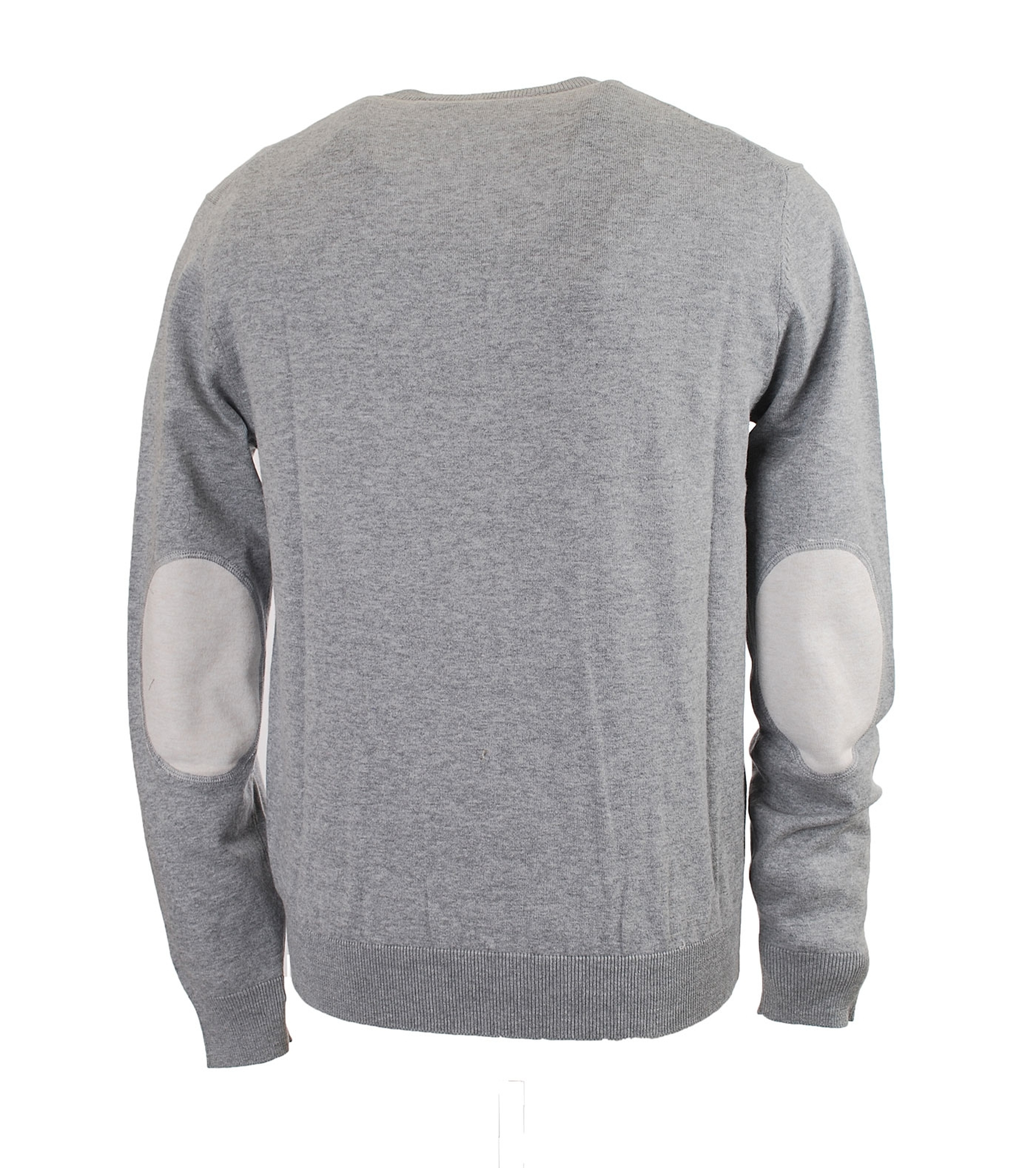 Trui met patch grey white for Fred garage frejus