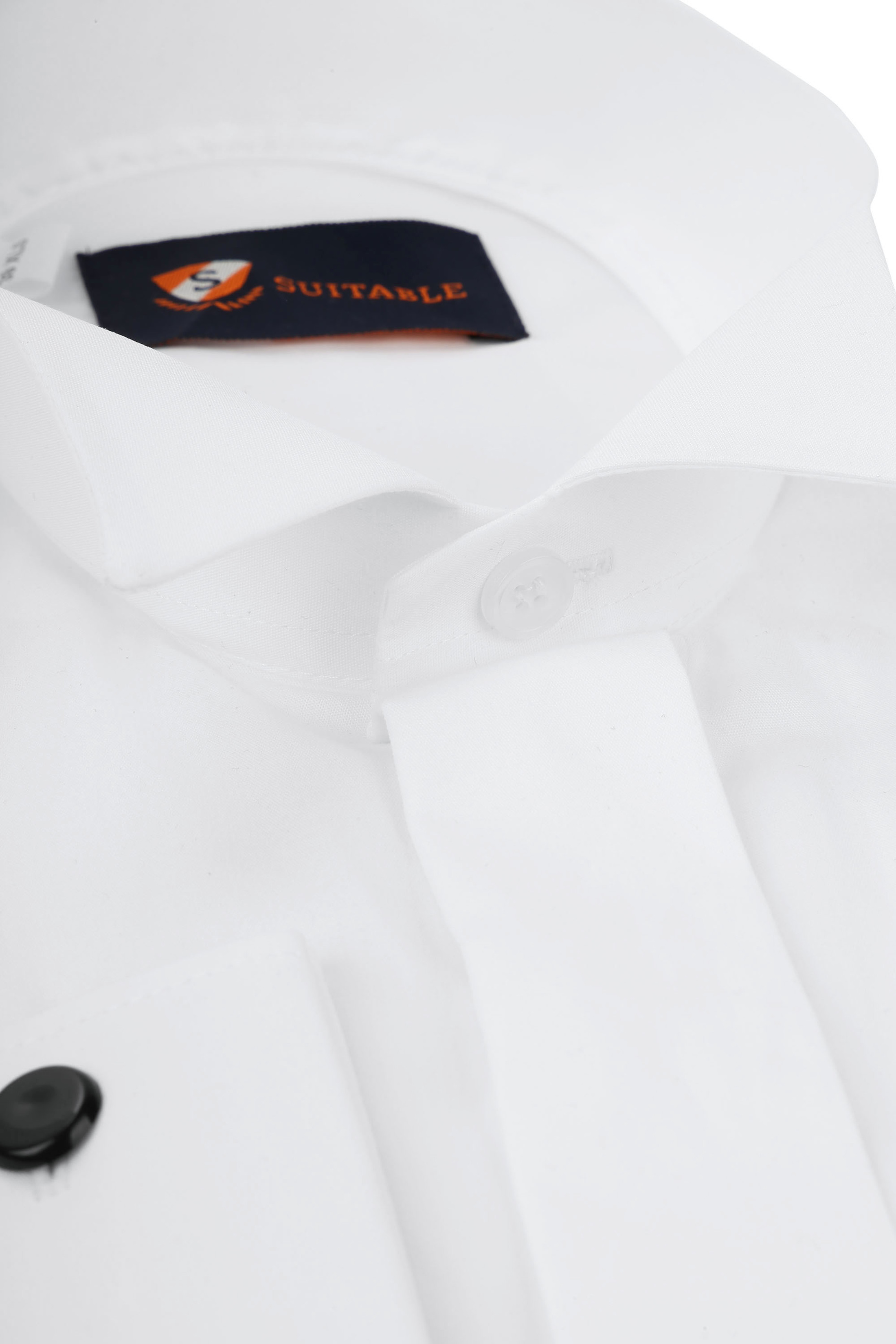 Tuxedo Shirt High Collar White photo 1