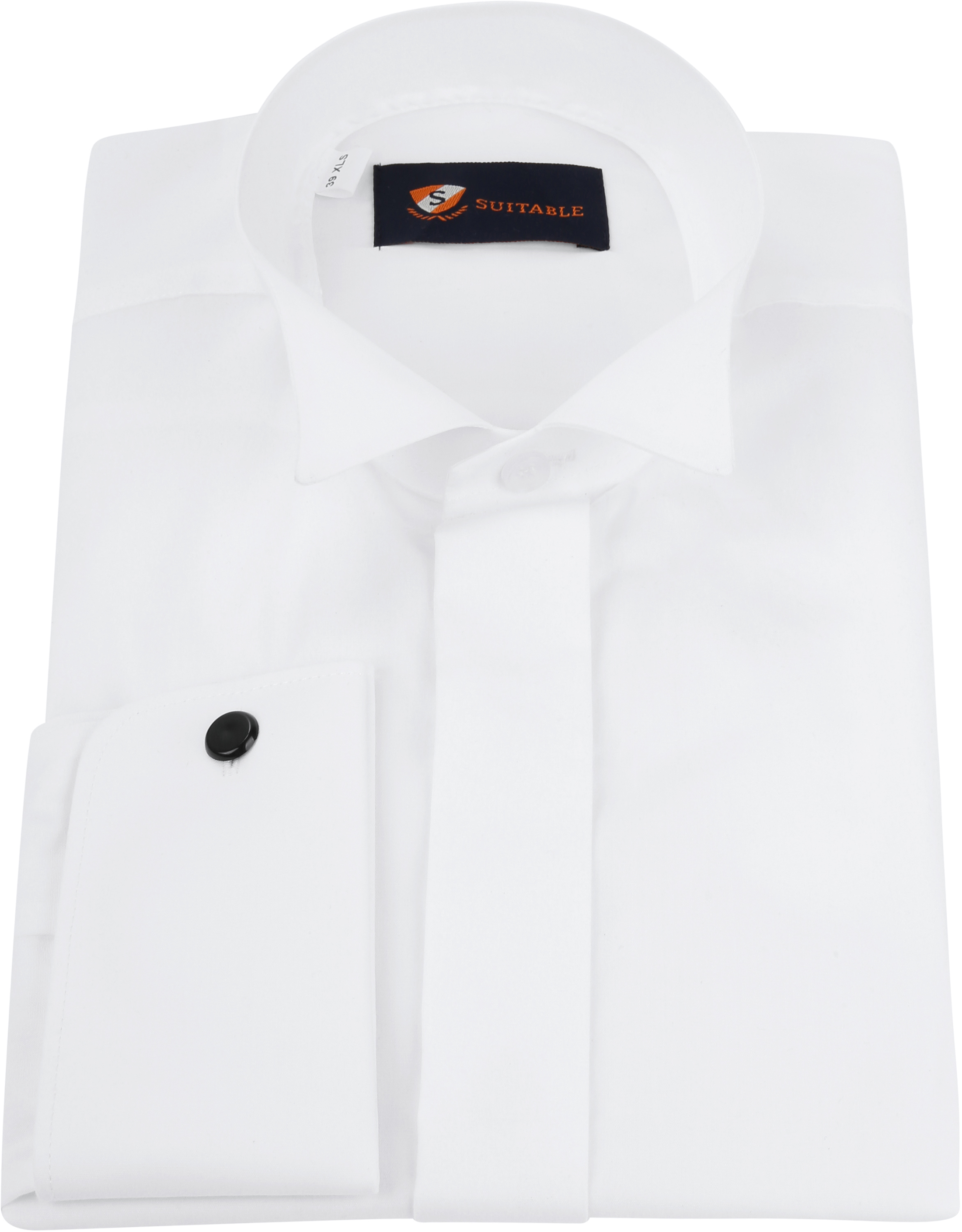 Tuxedo Shirt High Collar White photo 2