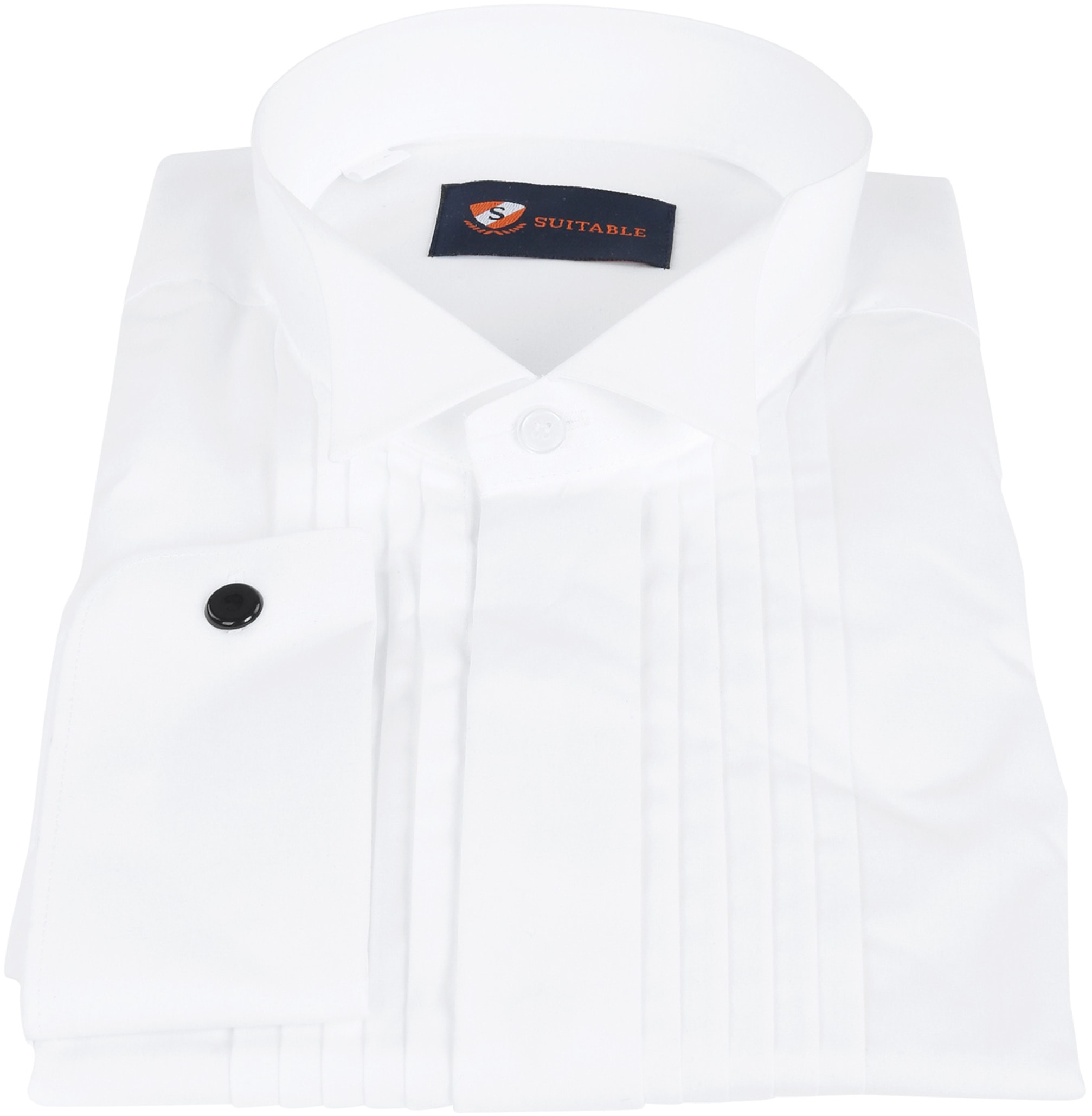Tuxedo Shirt Pleated White foto 2