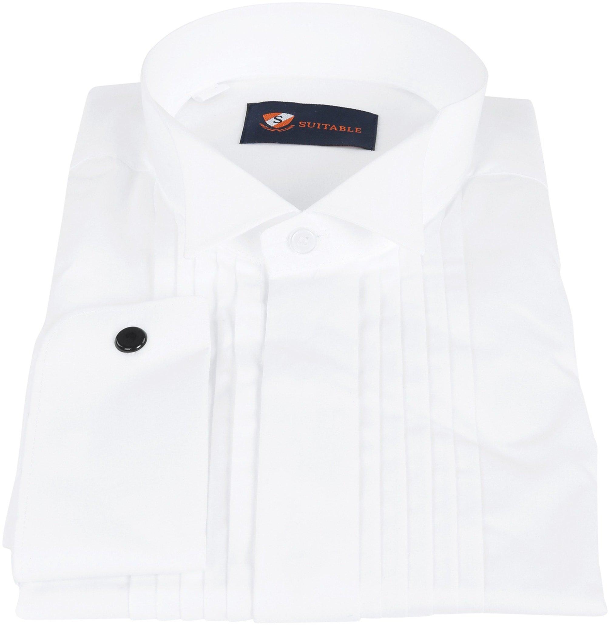 Tuxedo Shirt Pleated White photo 2