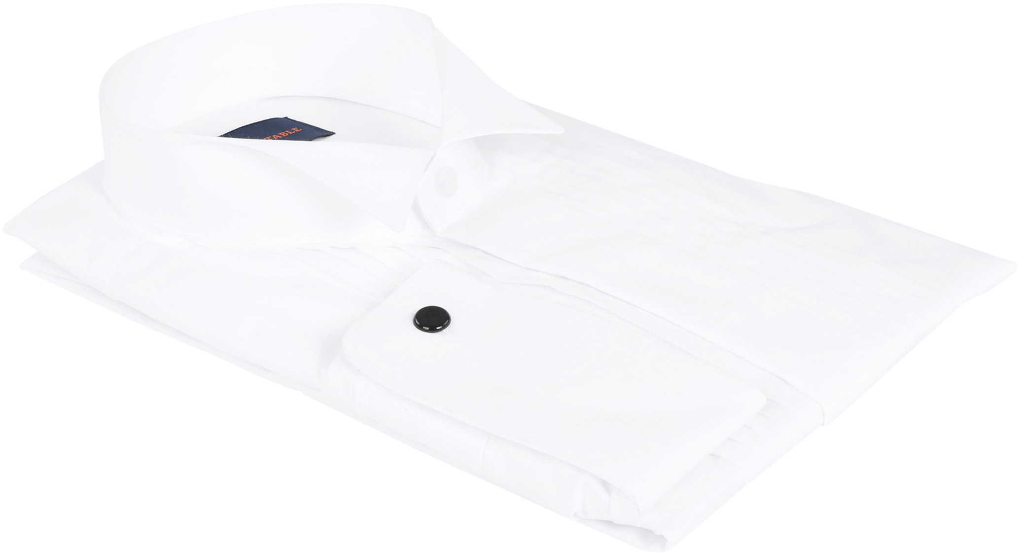 Tuxedo Shirt Pleated White photo 3