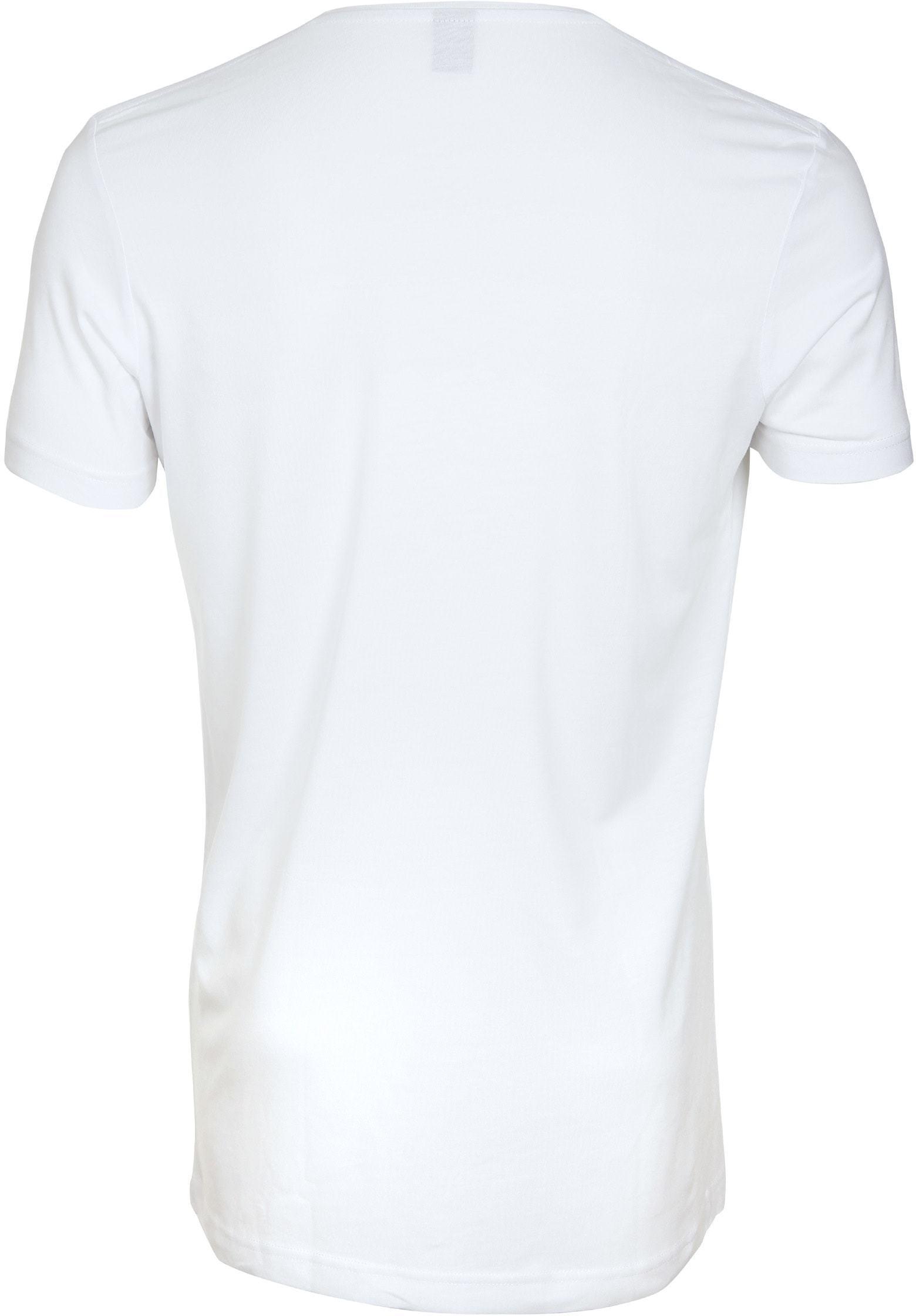 V-Ausschnitt 6-Pack Bambus T-Shirt Weiß foto 2
