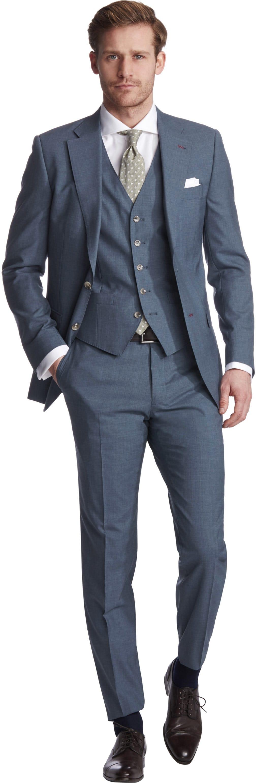 Van Gils Ellison Kostuum Blauw 3-Delig foto 0